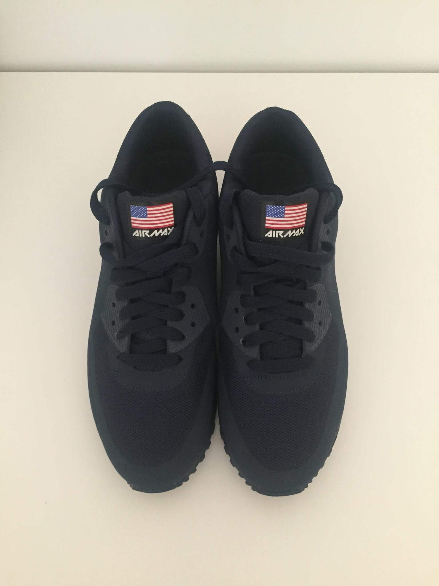 size 40 0e160 53766 Nike ×. NIKE AIR MAX 90 HYPERFUSE QS INDEPENDENCE DAY USA NAVY BLUE