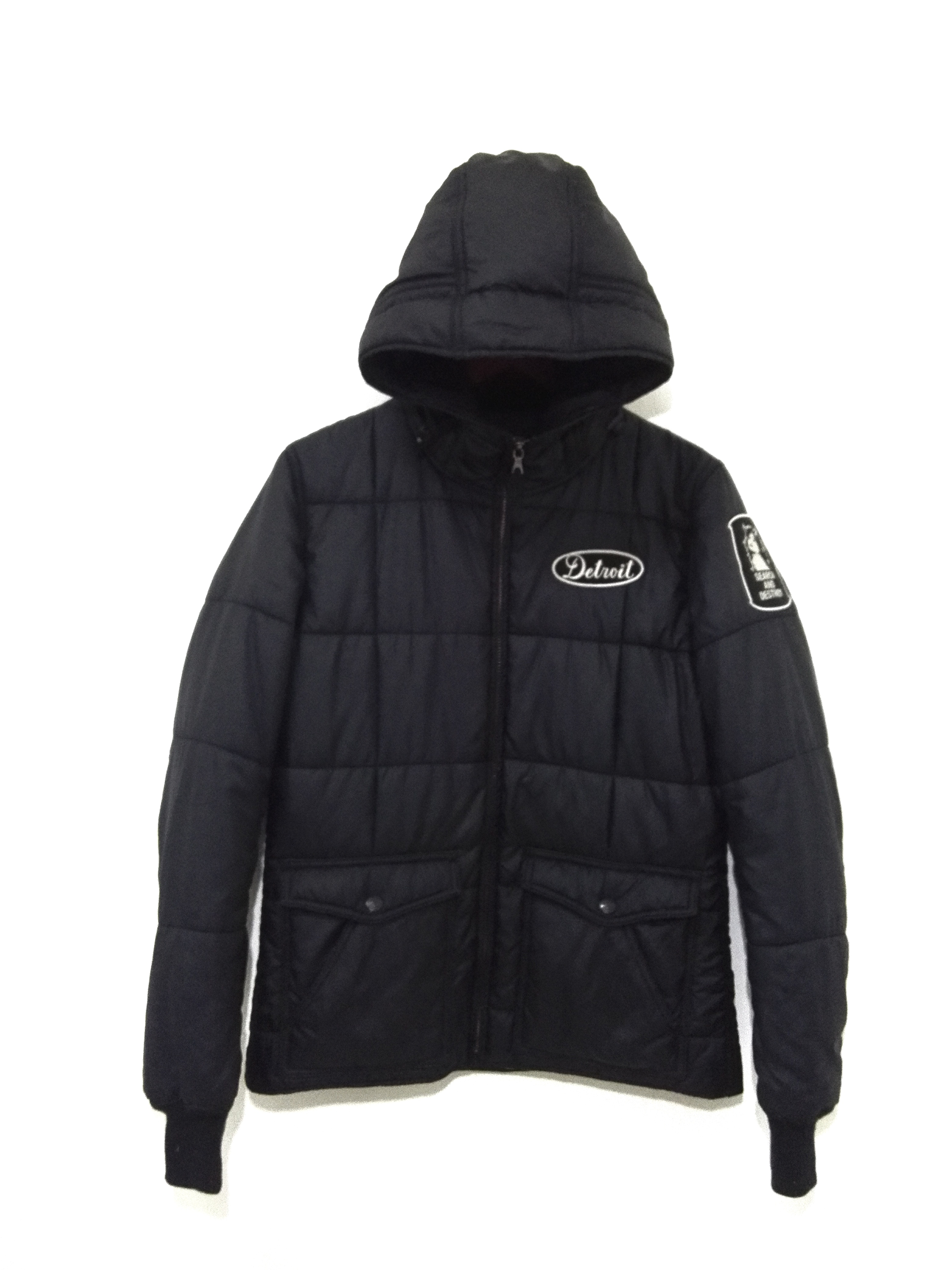 Hysteric Glamour Puffer Jacket Black Colour Design 13