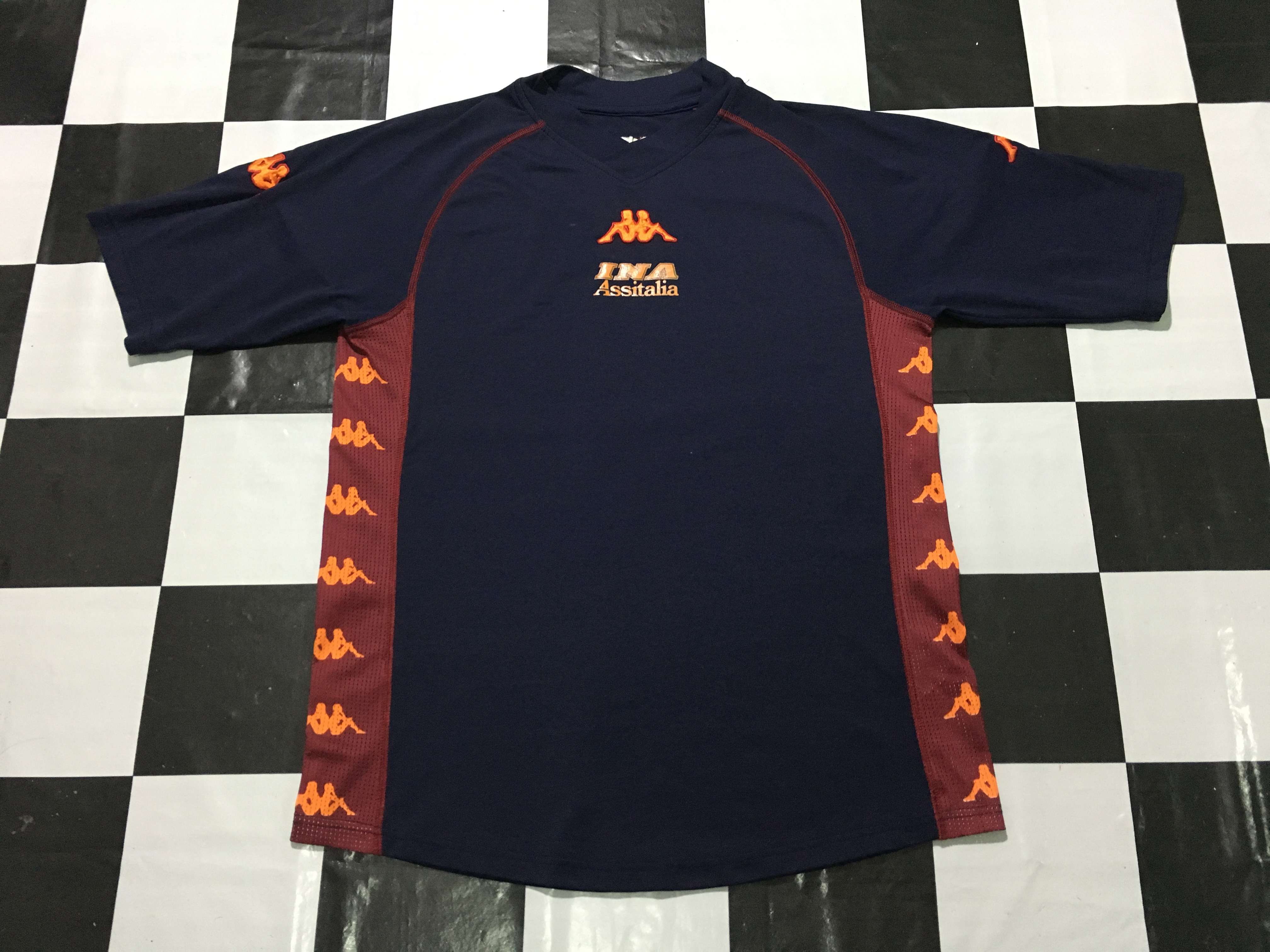 online retailer a6c14 617b8 Vintage Kappa football jersey AS roma big striped logo spell out Good  condition Made in Italy 90s