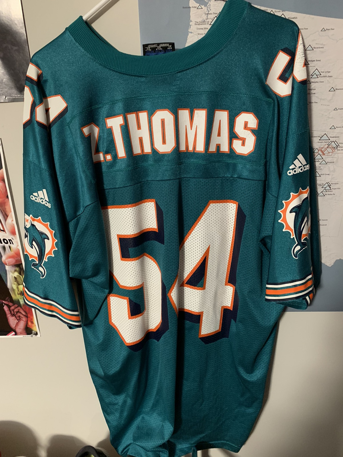 Adidas Miami Dolphins Zach Thomas Jersey