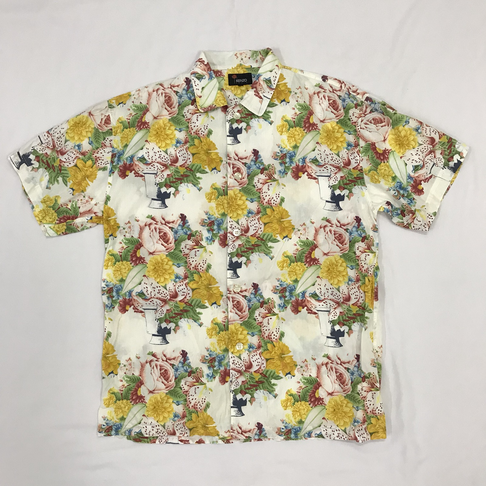 12e6686b049c7 Kenzo Vintage Kenzo Paris Hawaii Floral Full Print Shirt