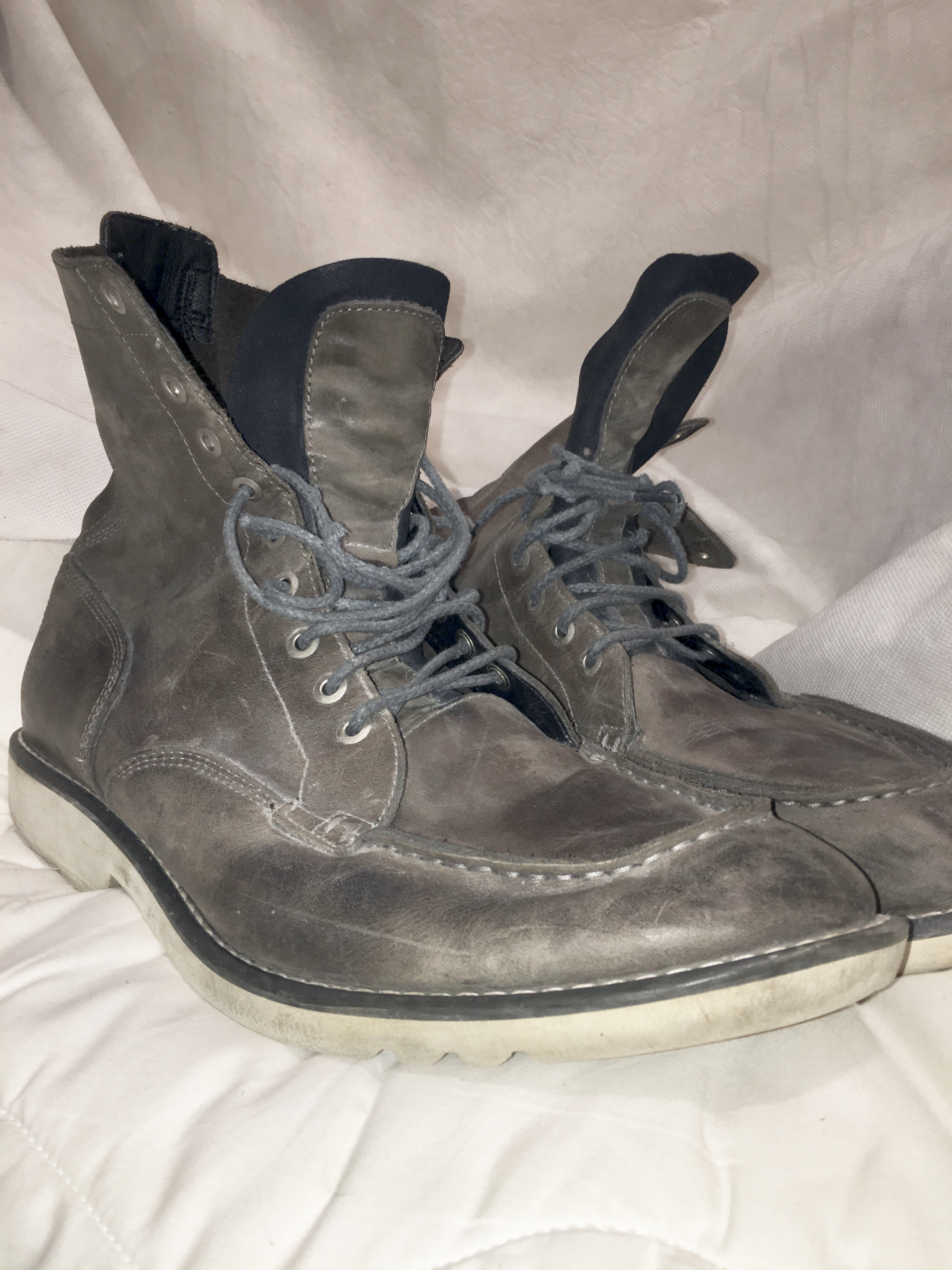 Timberland Earthkeeper Hipster Boots Grey Leather Mens Size 13M