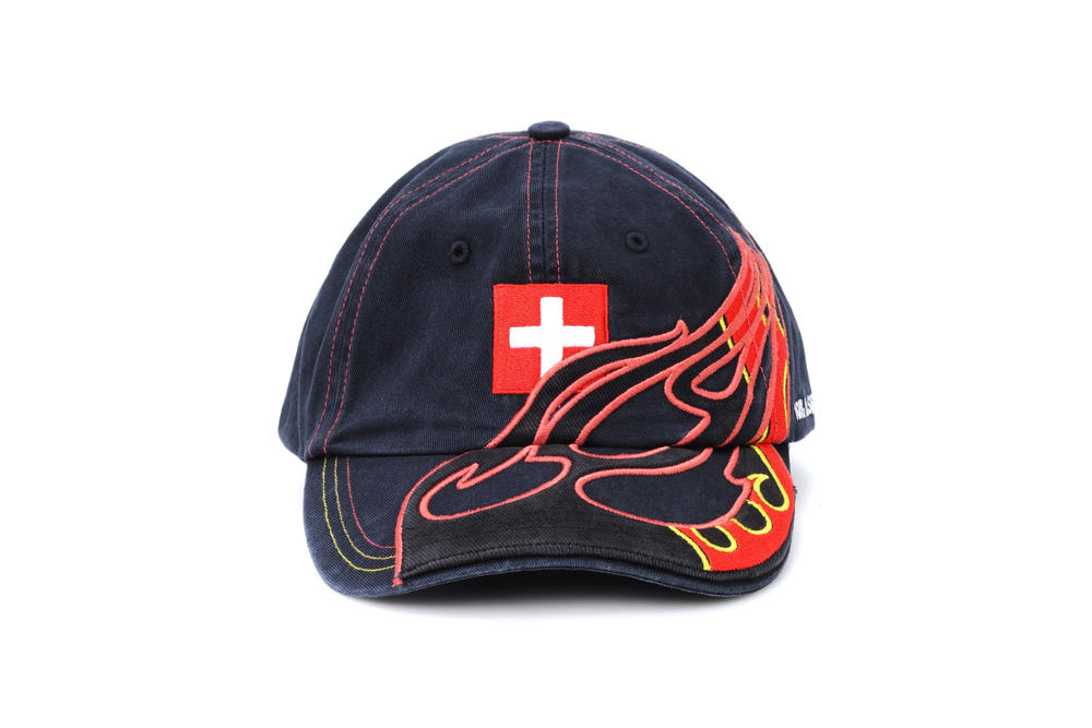 Reebok VETEMENTS SWISS SUISSE CAP FLAME FIRE Embroidered Appliquéd  Cotton-Twill Baseball Cap Size one size - Hats for Sale - Grailed 41633f66ec5