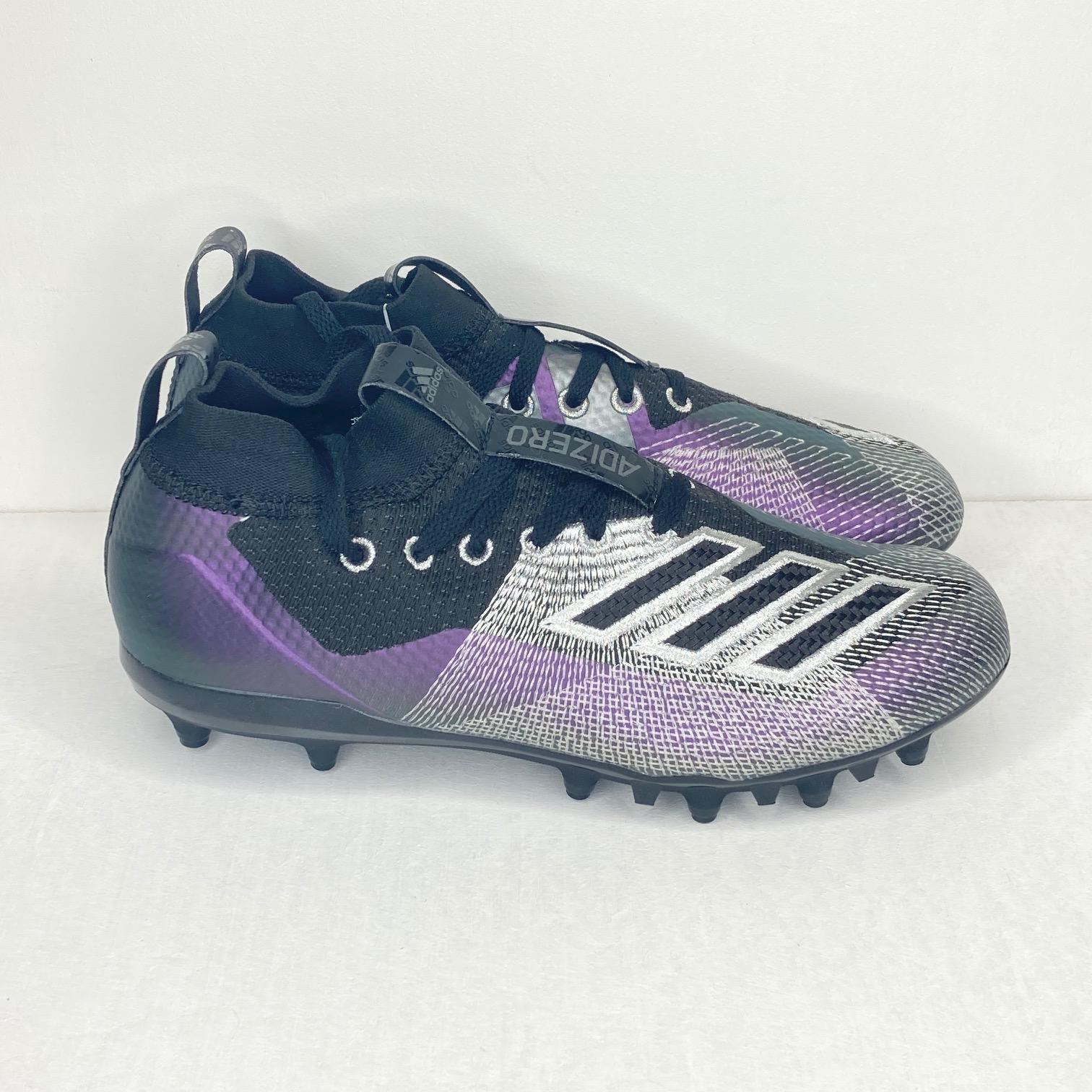 ADIDAS AdiZero 8.0J Soccer Cleats Black//Purple Chameleon Youth Sizes F36735