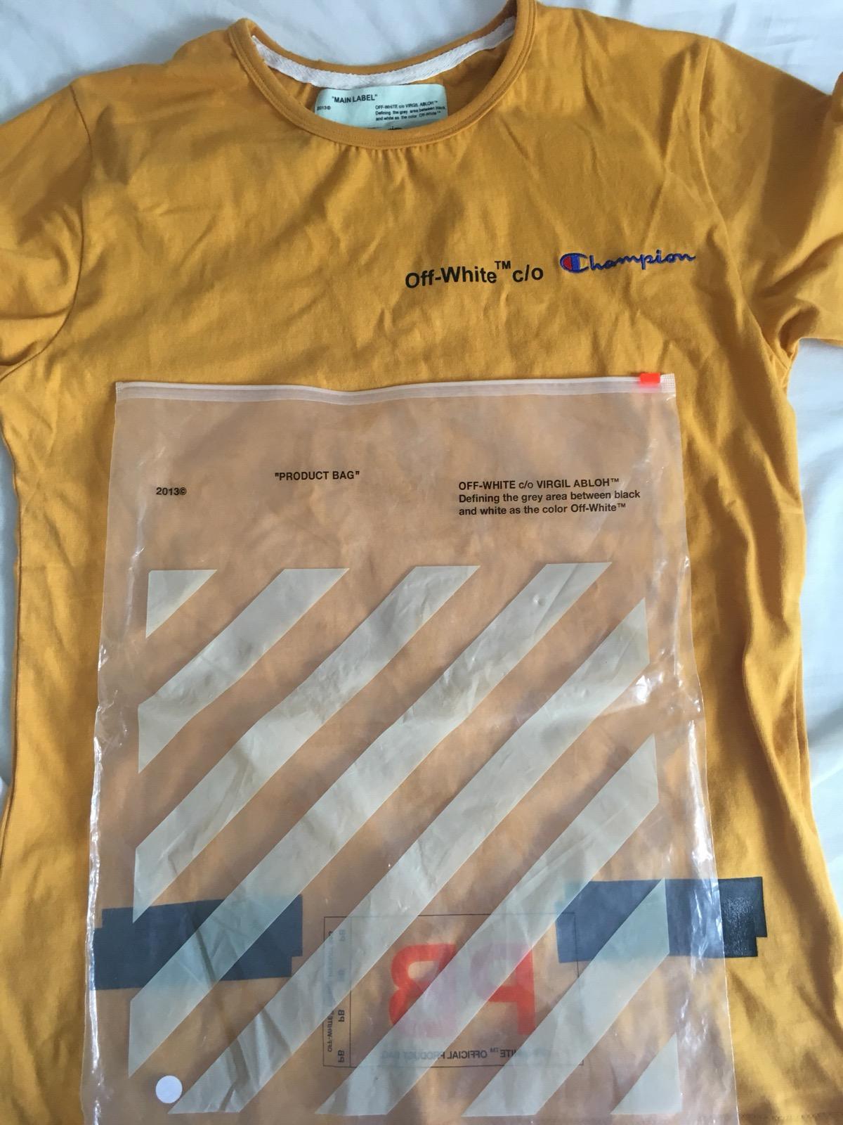 6e86ac73c549 Off White X Champion T Shirt Black – DACC