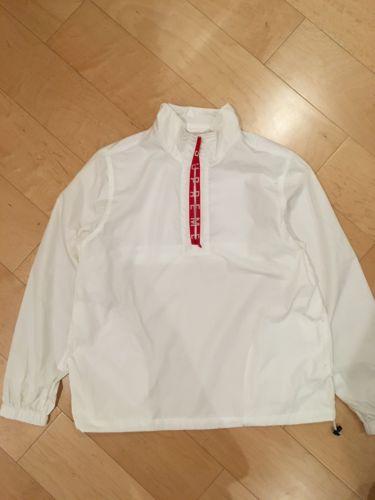 50dc749f31db Supreme Zip Logo Pullover Windbreaker Size m - Light Jackets for Sale -  Grailed