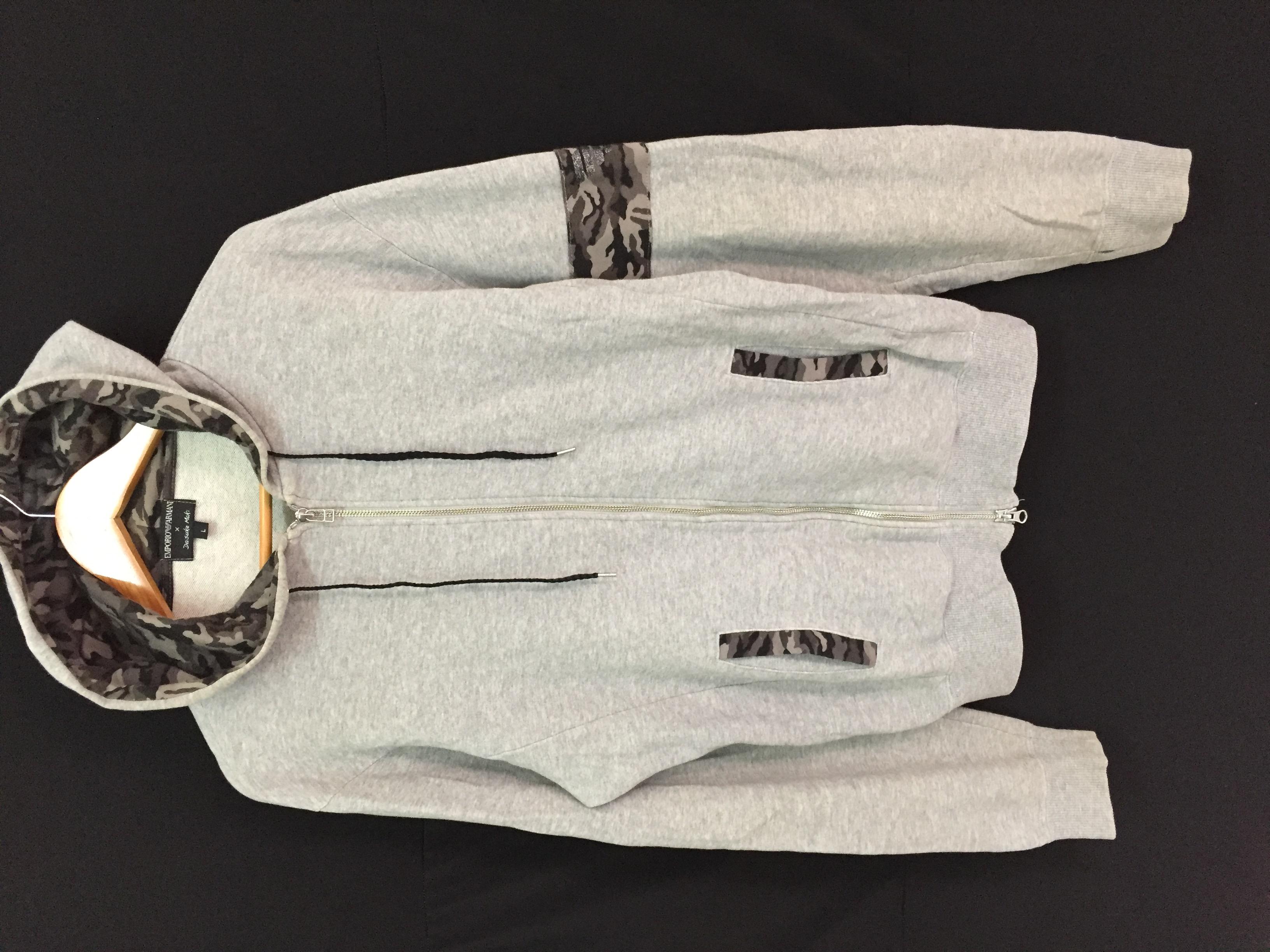armani camo hoodie