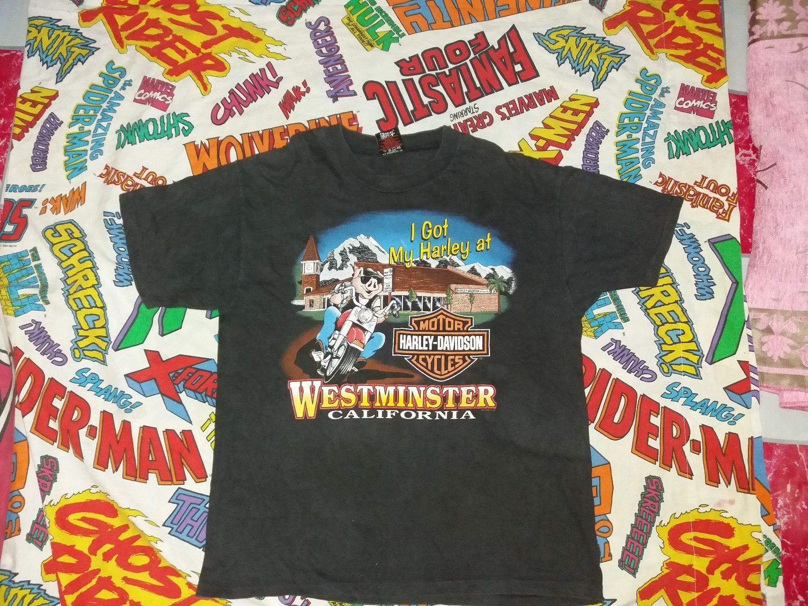2feb3cfe4ea1 Vintage VINTAGE HARLEY DAVIDSON HOG T-SHIRT 3D EMBLEM HOG HAWG PIG  WESTMINSTER Size l - Short Sleeve T-Shirts for Sale - Grailed