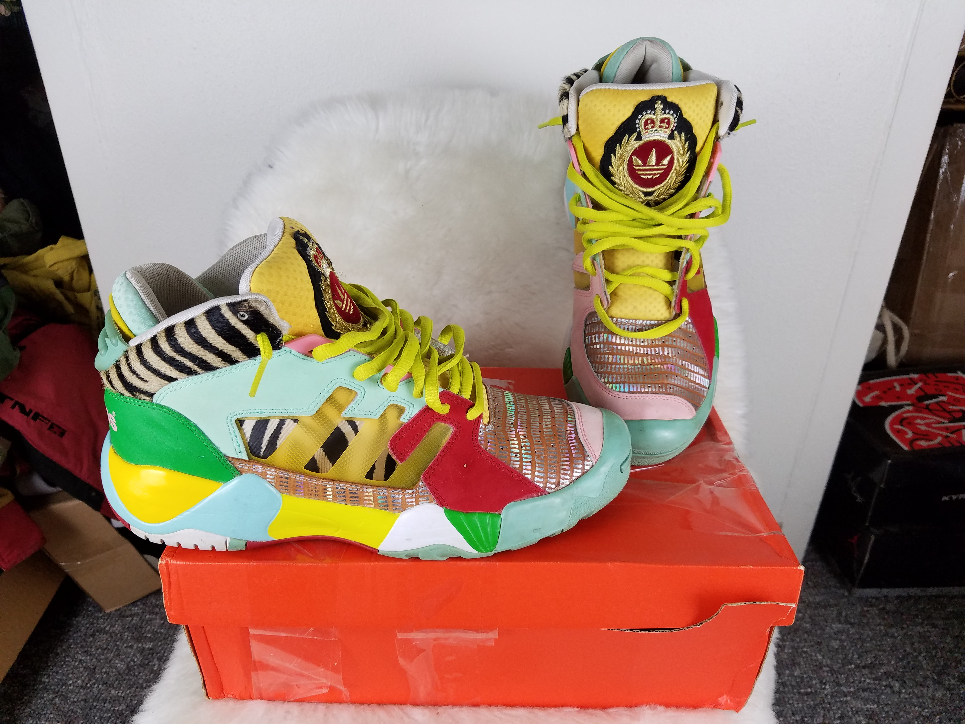 8b1f15d35e9d Adidas Streetball Zebra S S13 Size 11 - Hi-Top Sneakers for Sale - Grailed