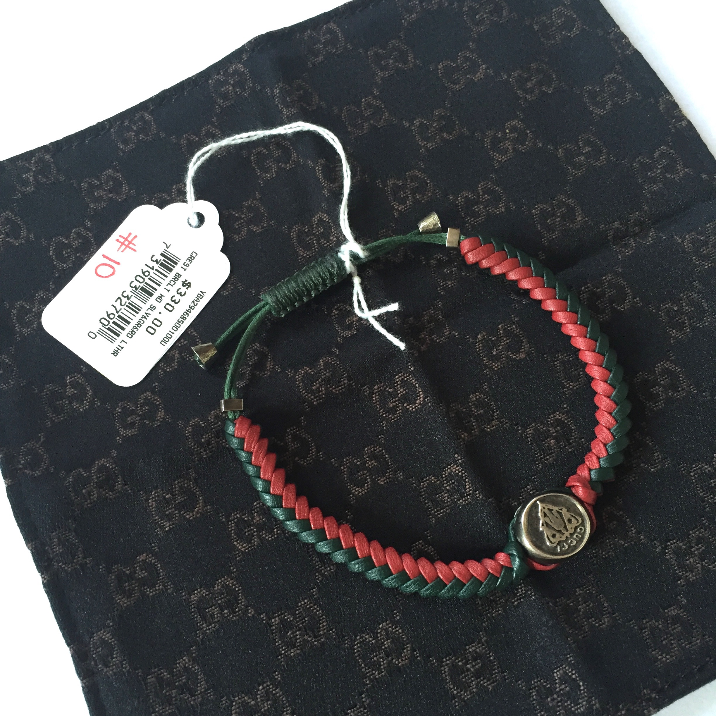 d8b85a13c Gucci Braided Leather Web Stripe Bracelet Nwt | Grailed