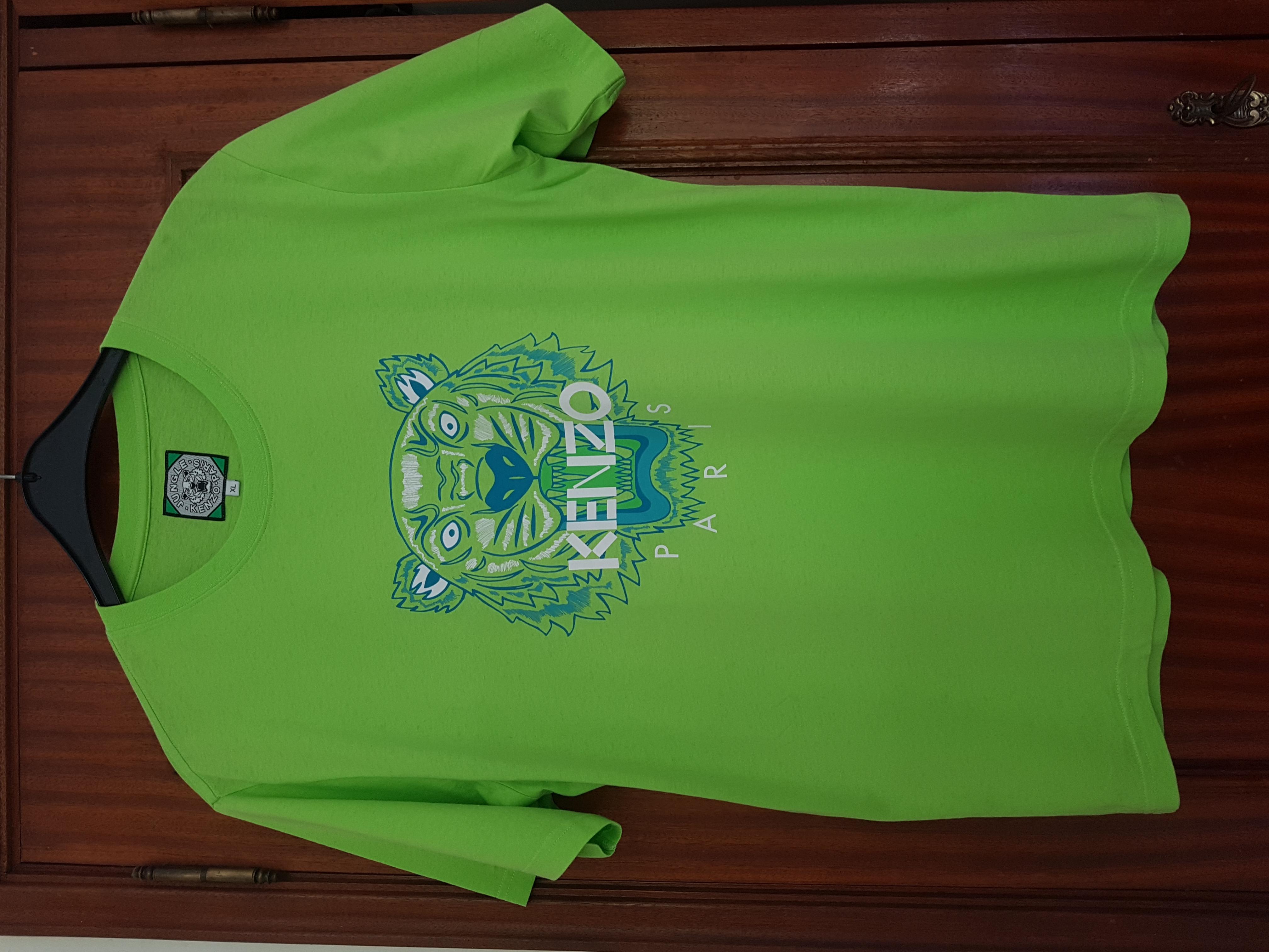 5fb7d22e3 Kenzo Kenzo Green Tiger T-shirt Sz Xl | Grailed