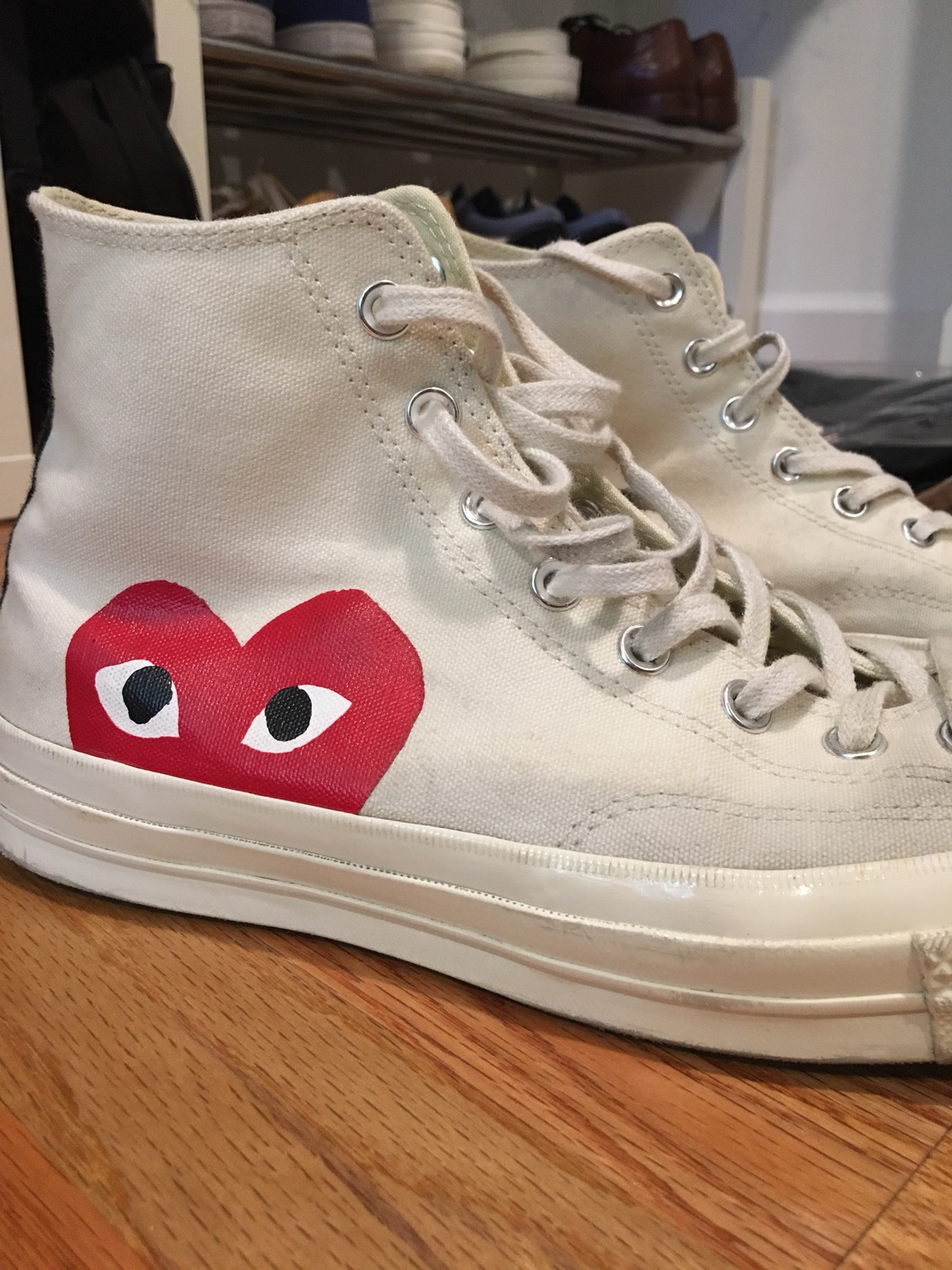 9b3c4cc54e0c Converse CDG Converse White High Tops Size 10 - Hi-Top Sneakers for Sale -  Grailed