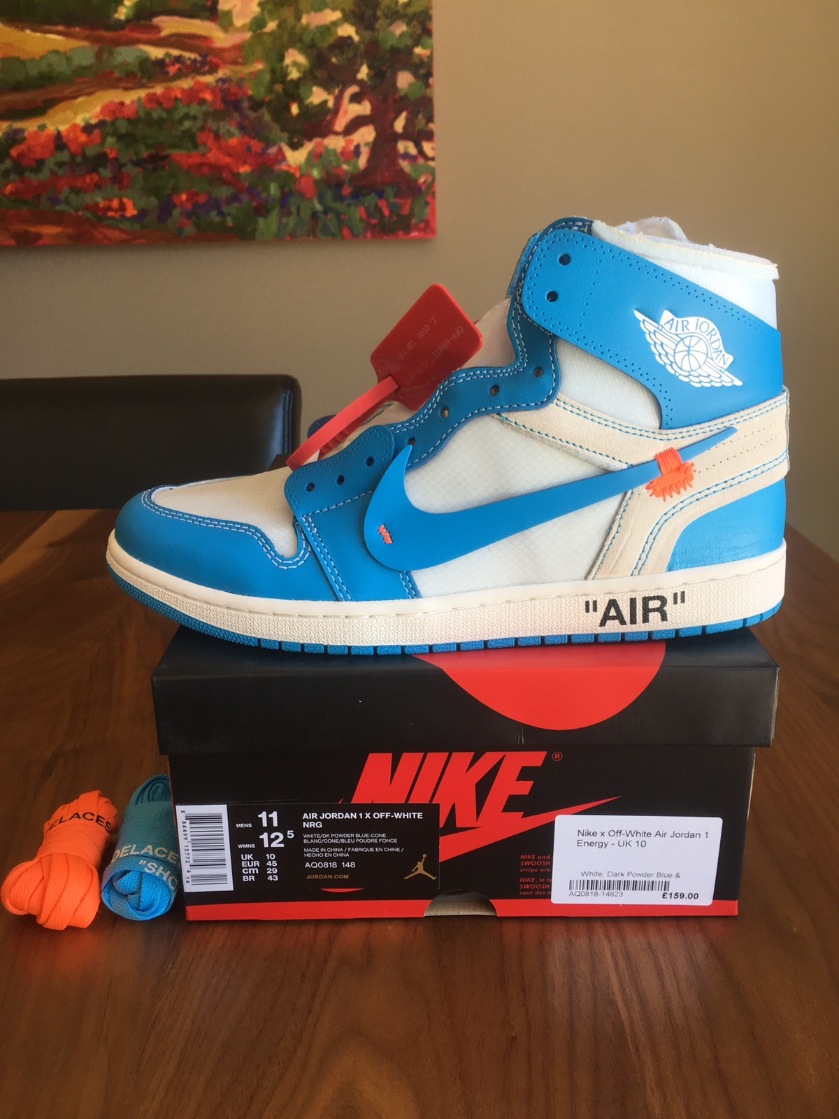 39bcba806df855 Nike Nike Off-White UNC Jordan 1 University Blue LAST DROP Size 11 - Hi-Top  Sneakers for Sale - Grailed