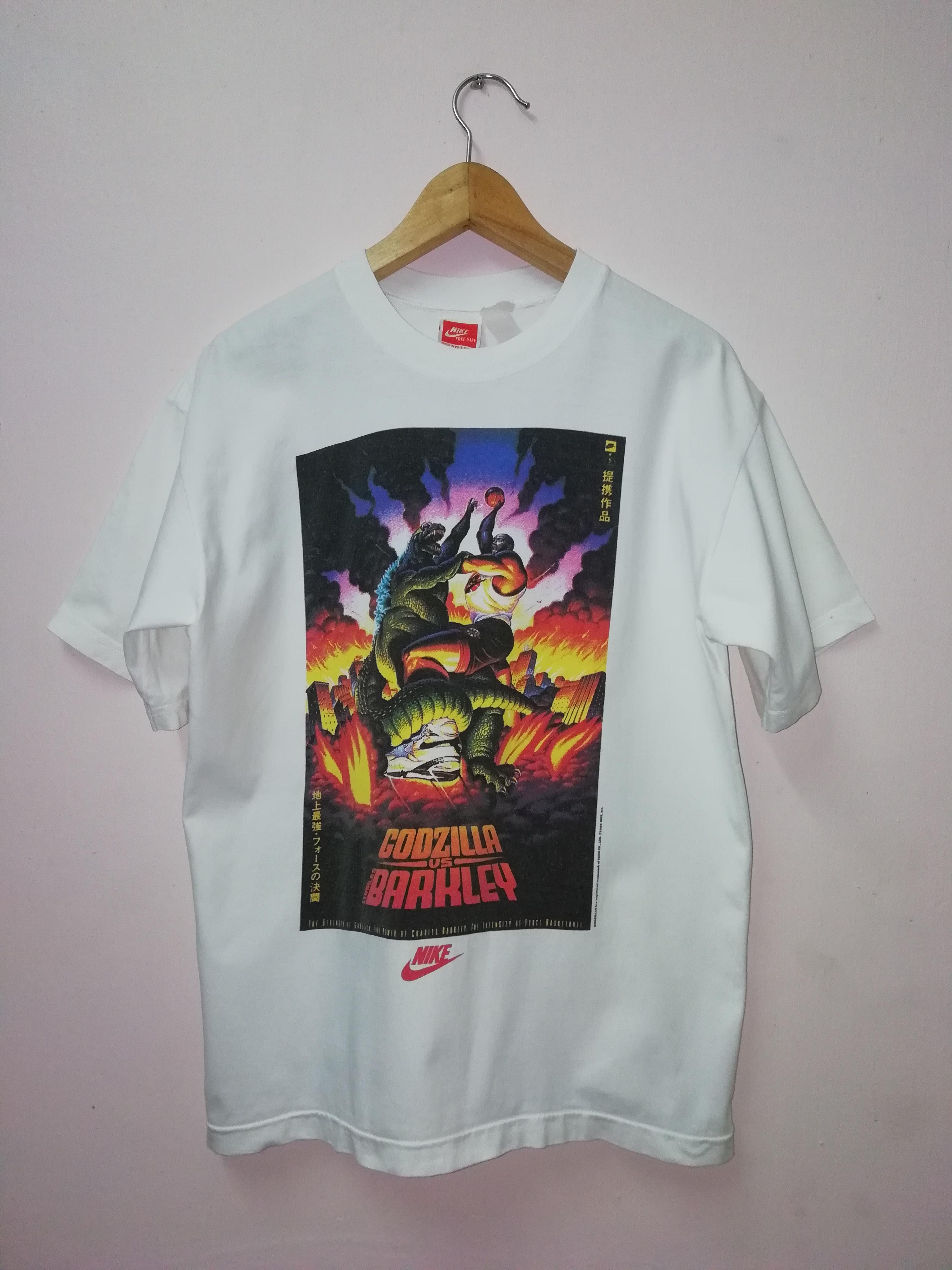 en stock 7e6e2 e6bcd Vintage 1992 Nike Godzilla vs Barkley T-Shirt