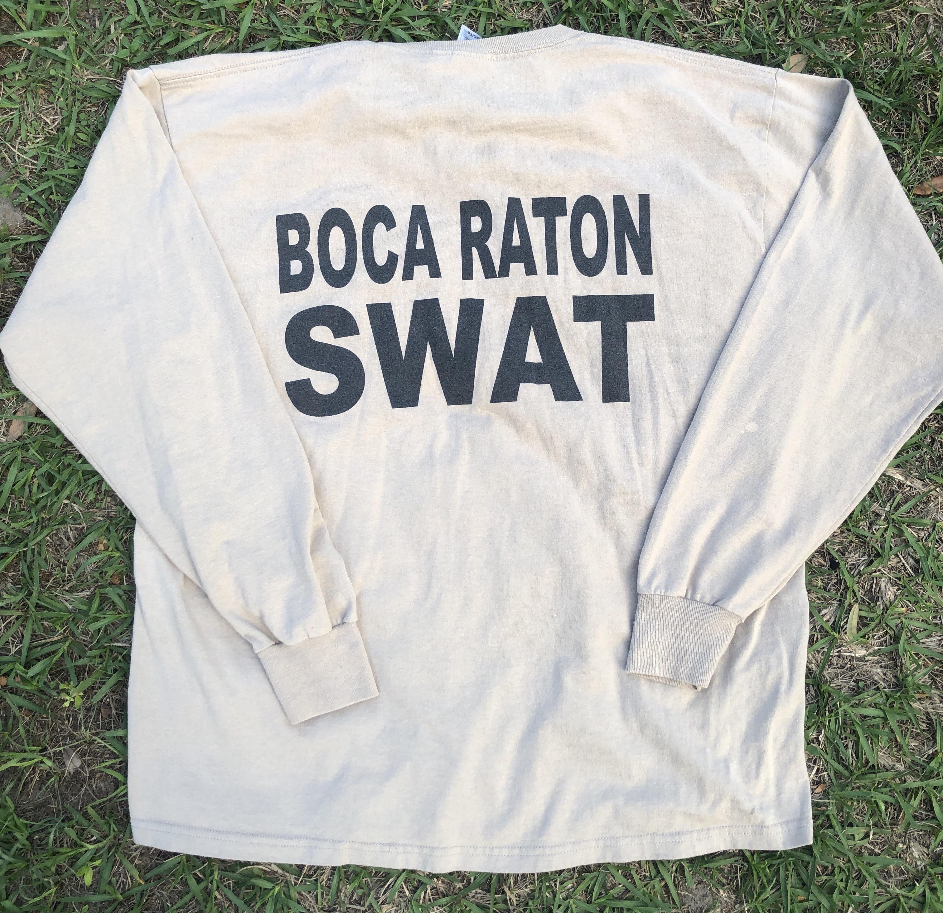 c0c1b0ef Vintage Vtg Mens Swat Team Tee Shirt Size Xl Long Sleeve Fruit Tan ...