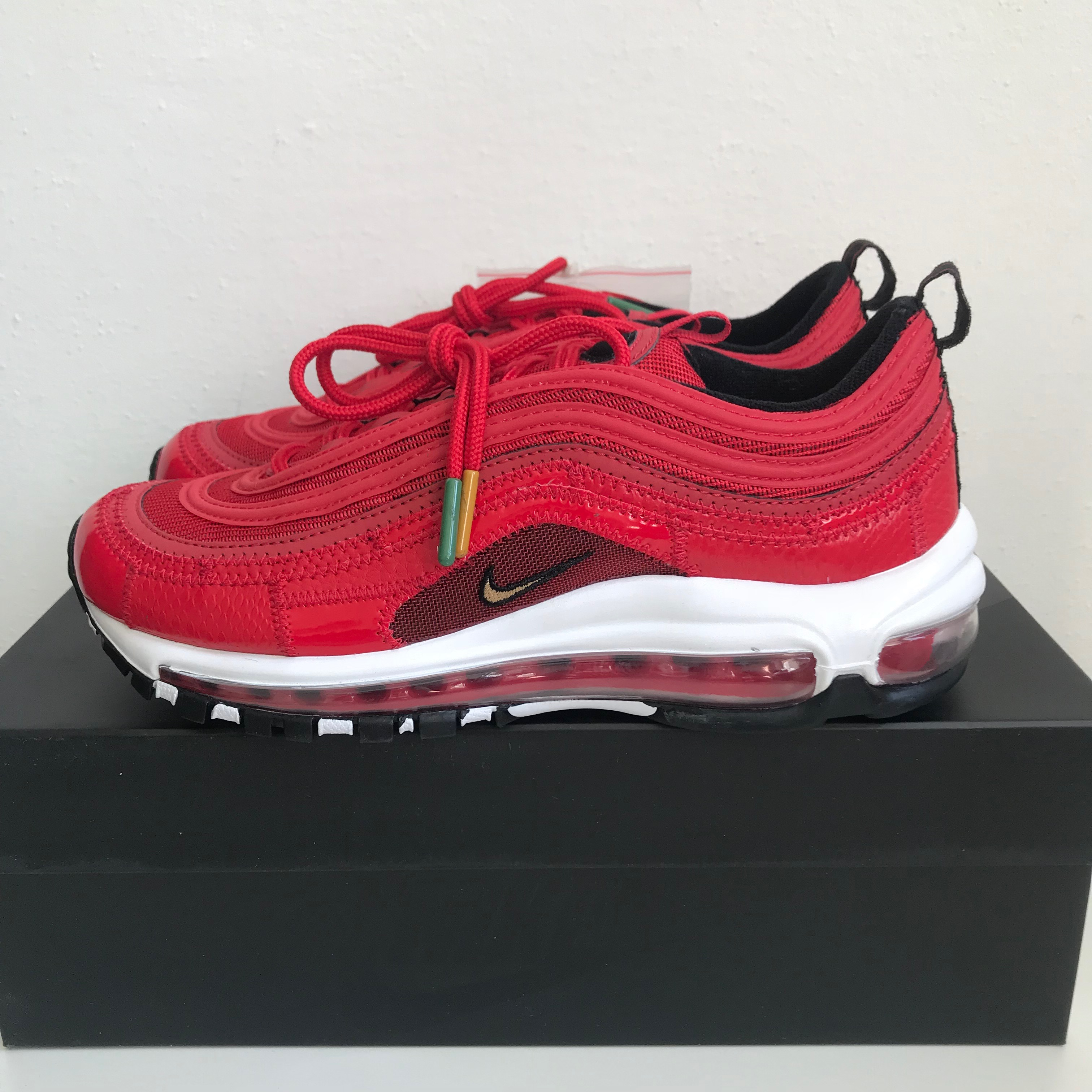 half off b01e8 b1096 Nike Air Max 97 CR7 Patchwork Red Cristiano Ronaldo GS US 6.5Y