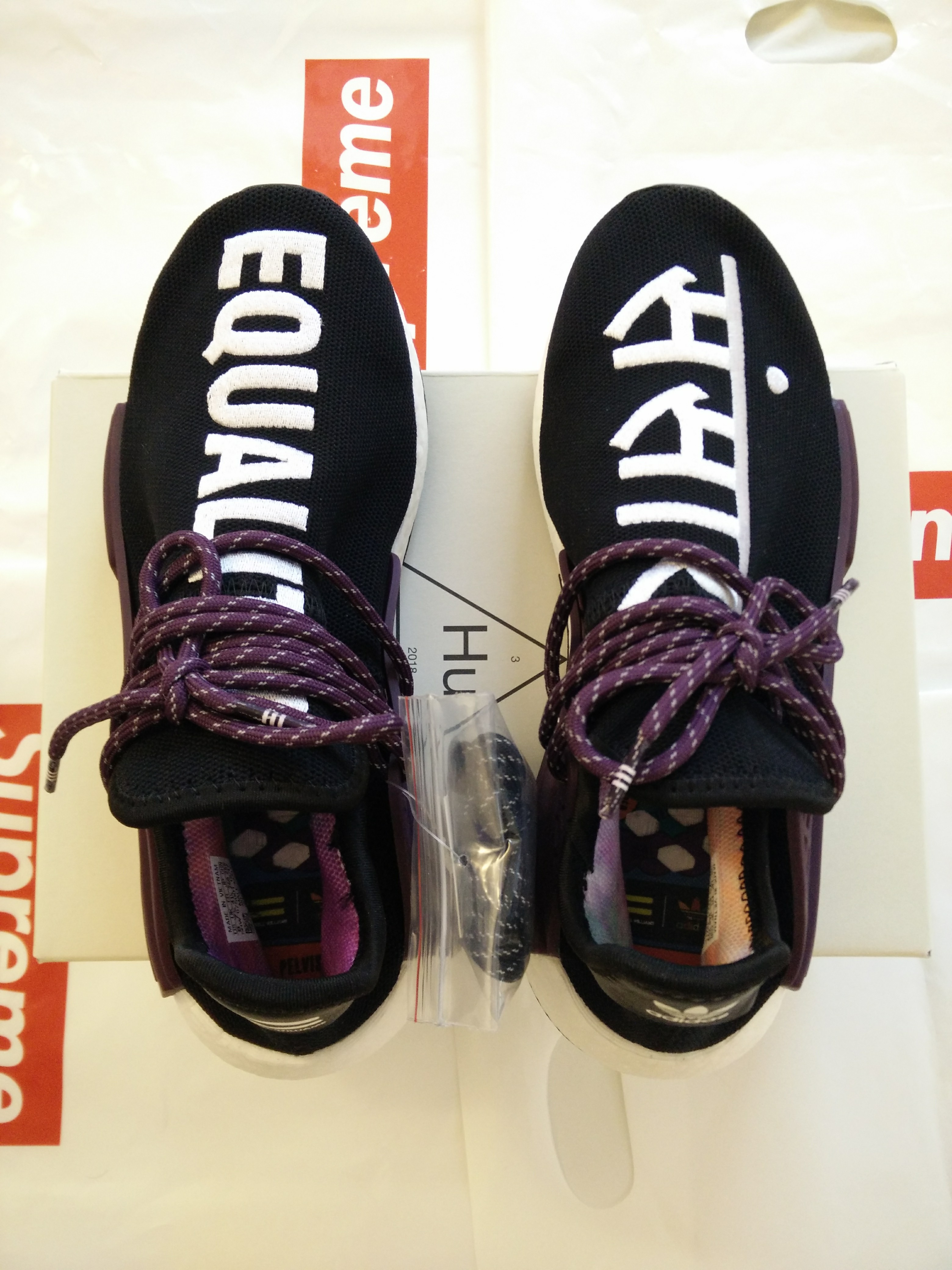 ad11bdc6266d6 Adidas × Pharrell ×. adidas Human Race NMD Pharrell Holi Core Black Size 8