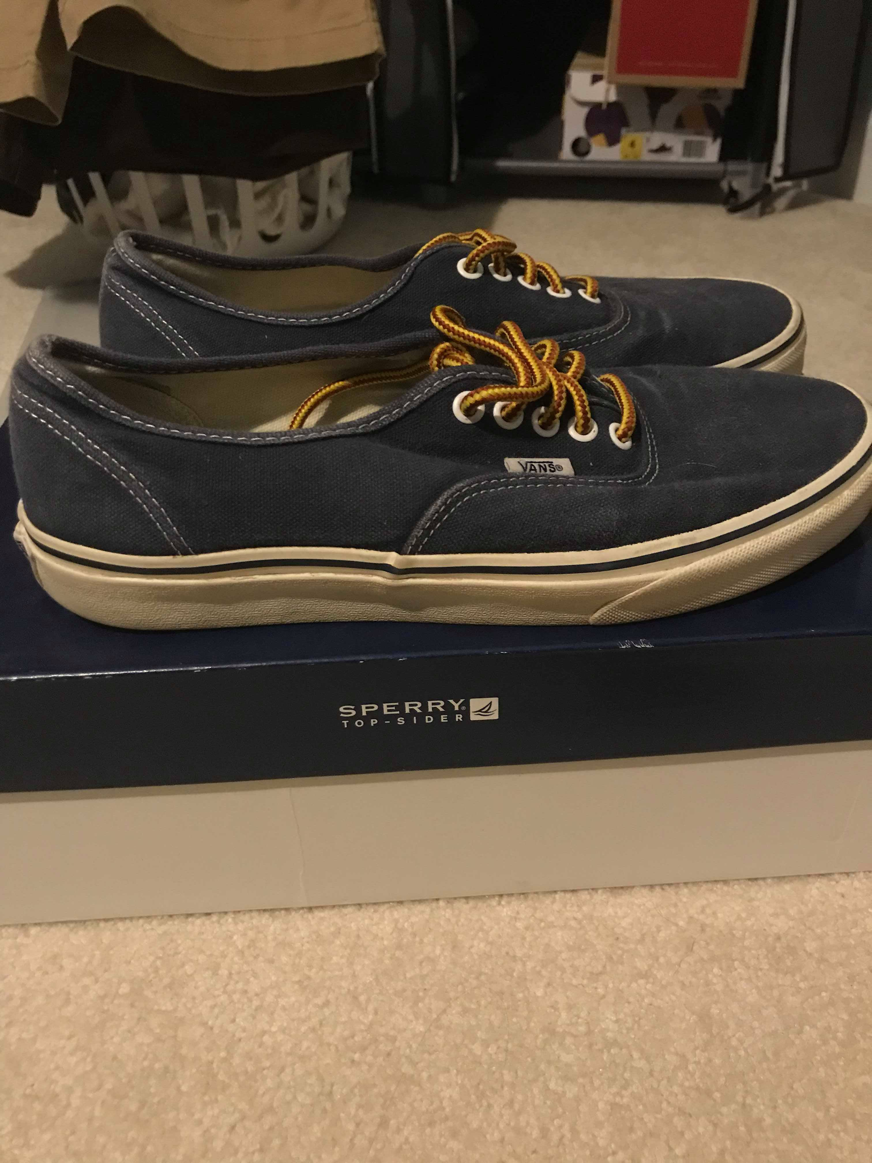 c382910de4 J.Crew J. Crew x Vans Authentic Navy Size 10 Size 10 - Low-Top ...