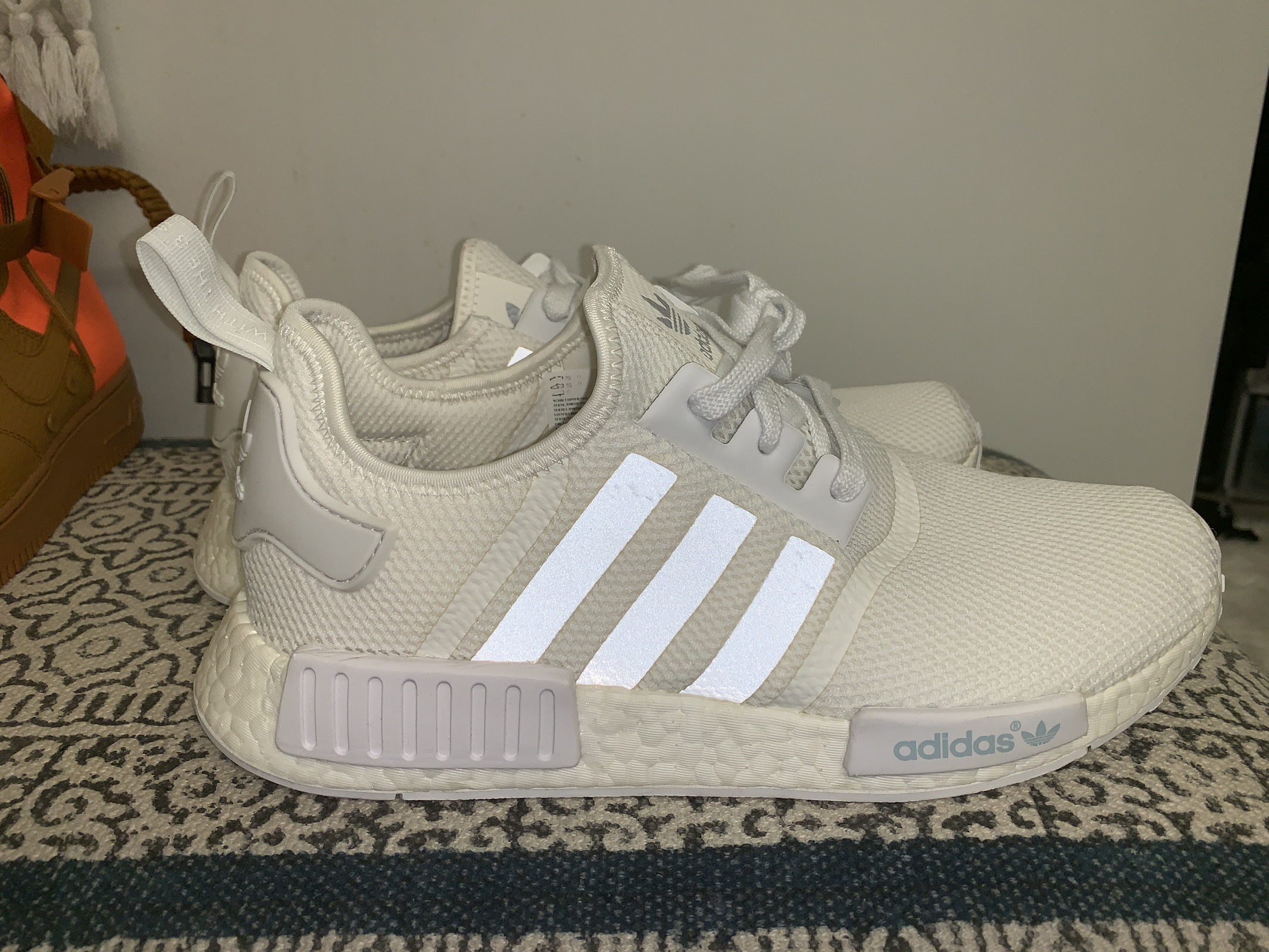 Adidas Nmd R1 Triple White Reflective Stripes Grailed