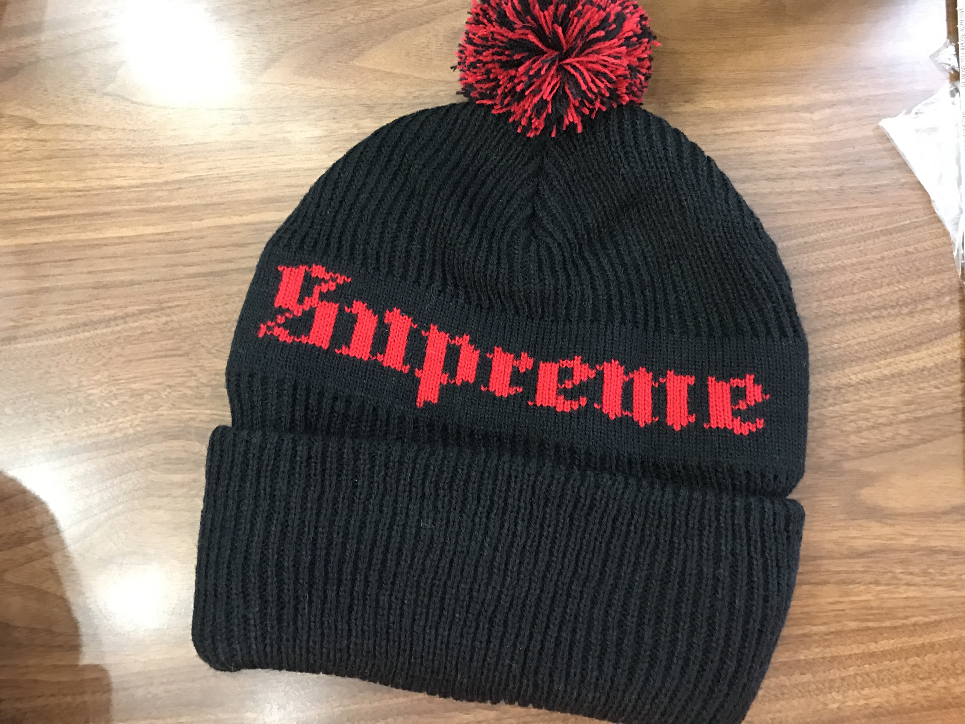0f6dde24 Supreme Brand New Supreme Old English Beanie - Black | Grailed
