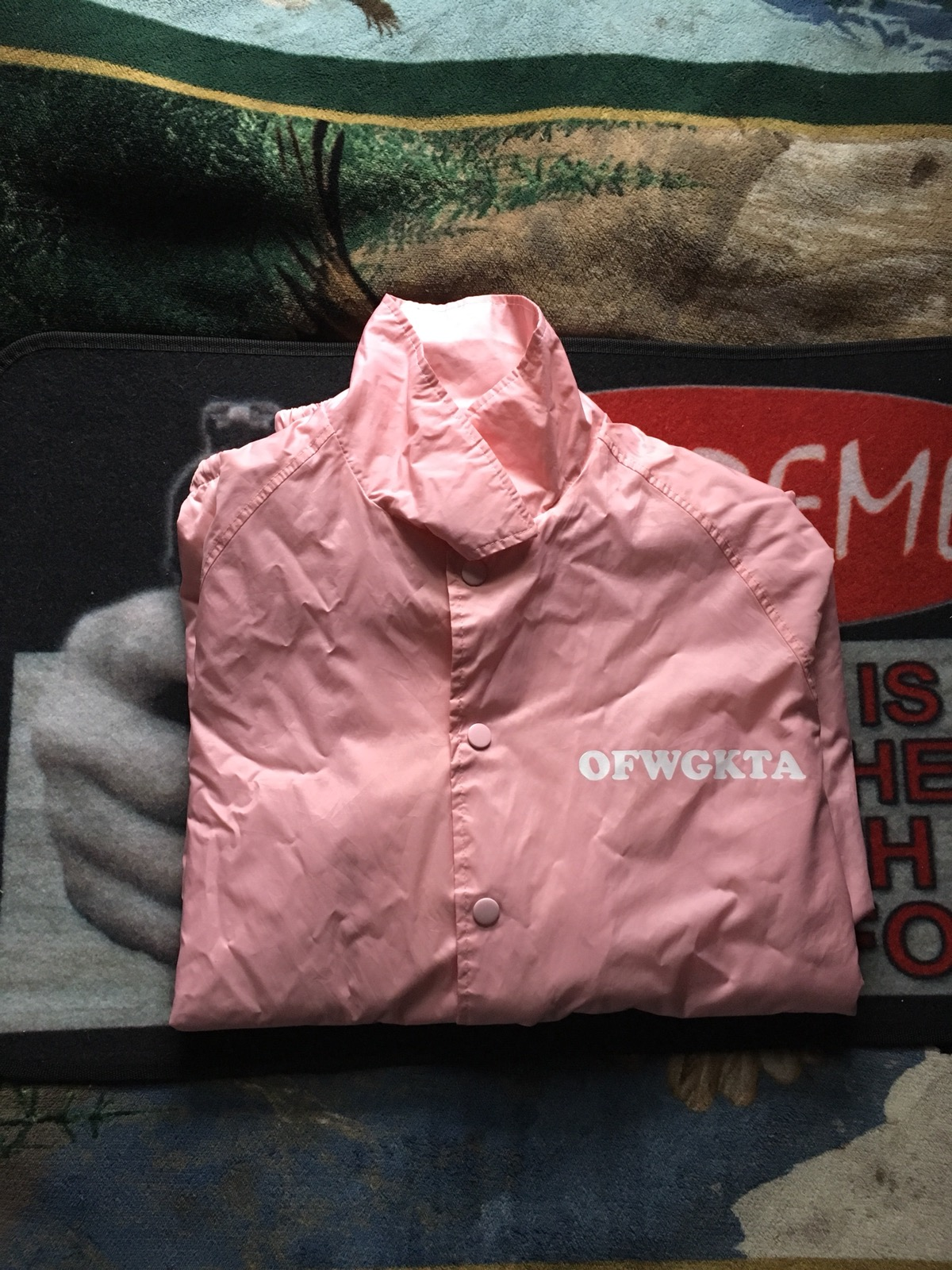 257726296bb5e9 Odd Future Ofwgkta Pink Coach Jacket