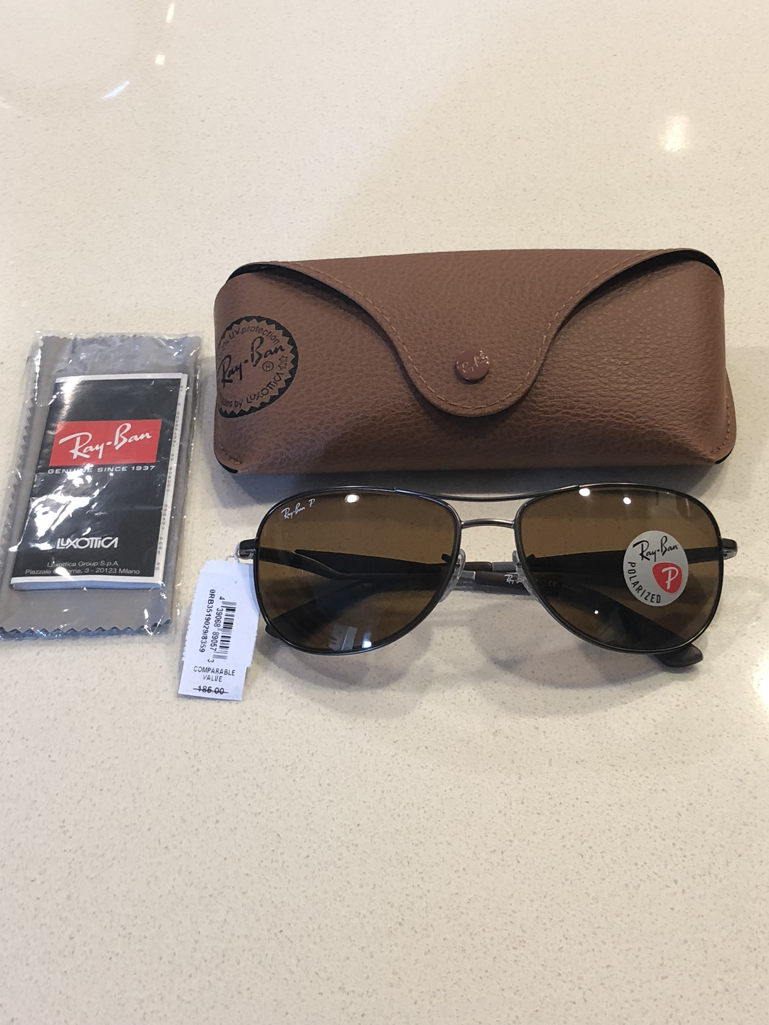 1640fbb5fa4 RayBan New Authentic Ray Ban Pilot Sunglasses RB3519 029 83 Brown Polarized  Lens  185 Size one size - Sunglasses for Sale - Grailed