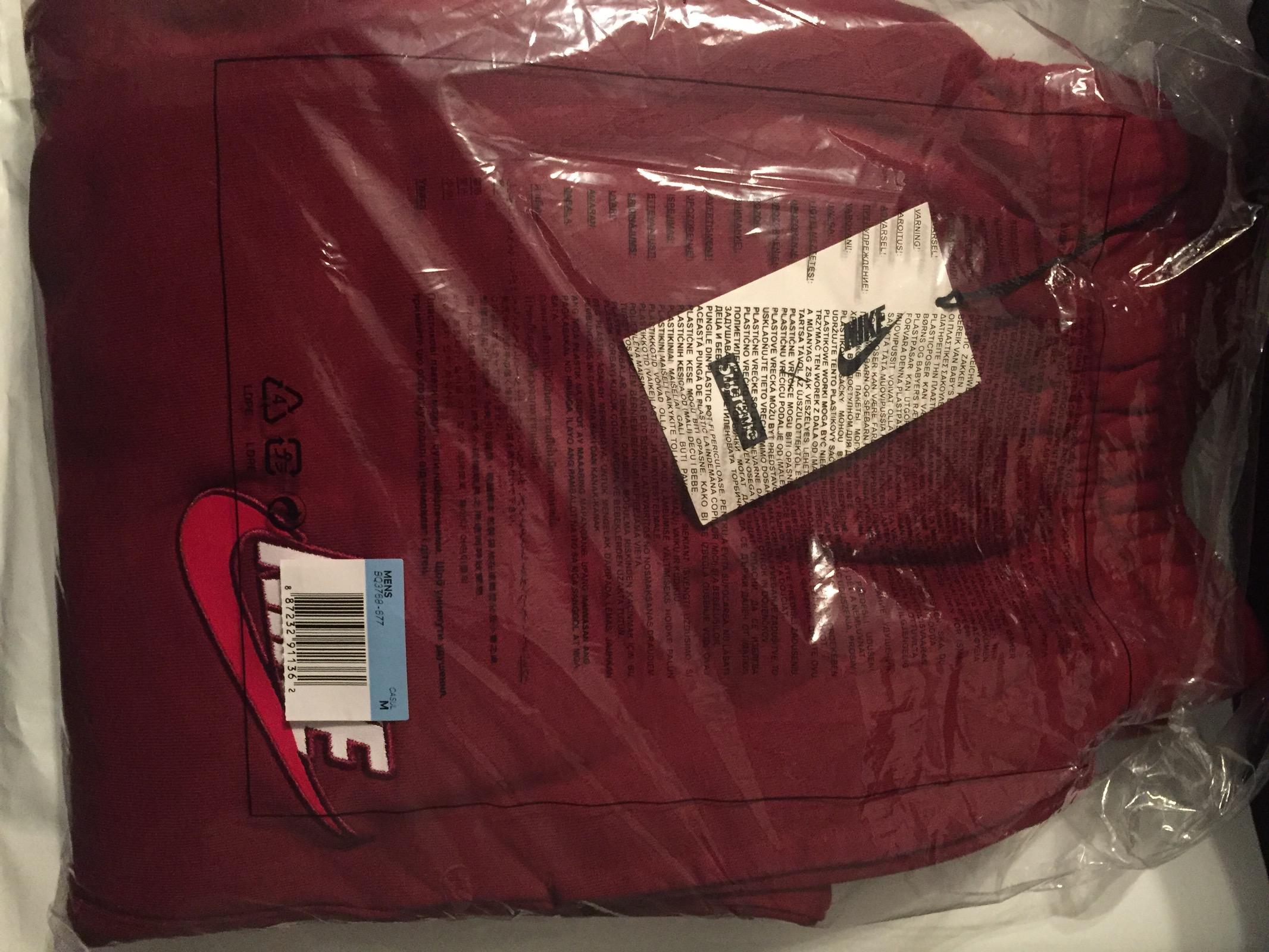 594a57b5 Supreme × Nike ×. Supreme/Nike Sweatpants Burgundy*For retail