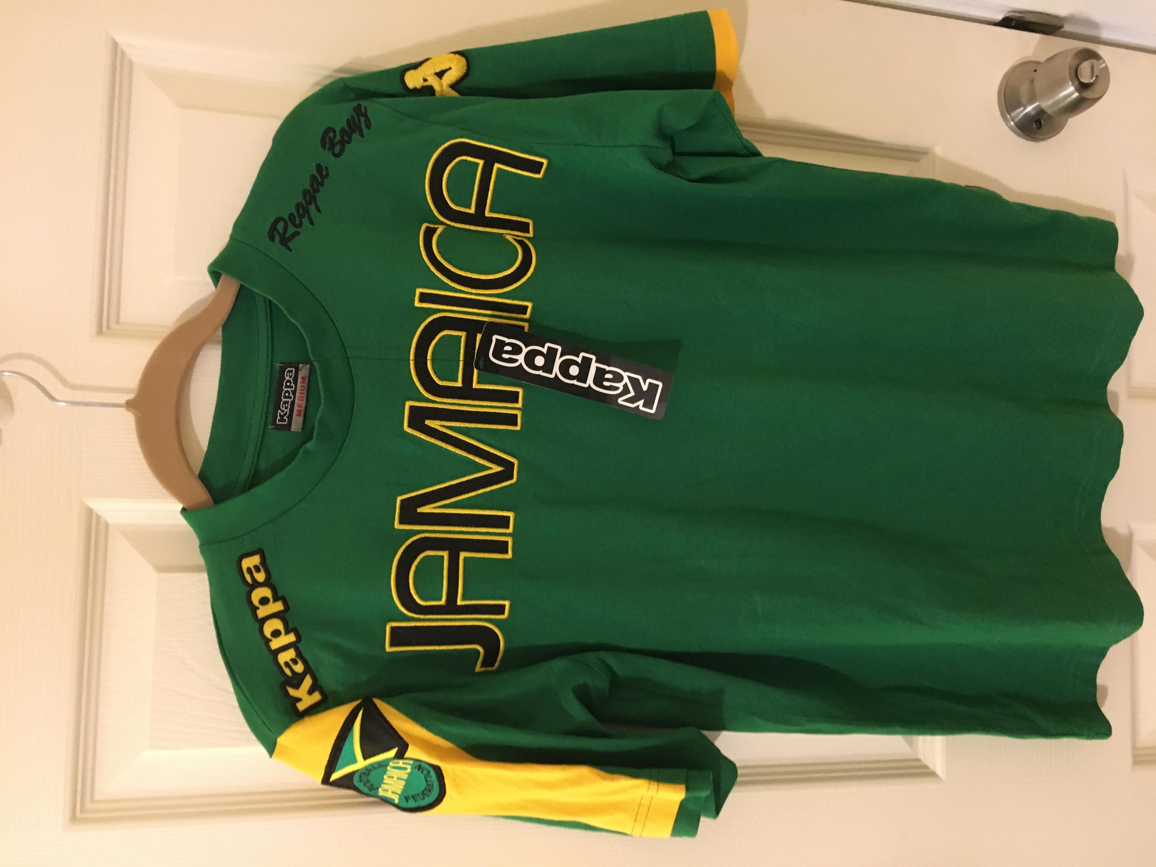 fcc030182 Kappa Kappa Jamaica Soccer  Reggae Boyz  shirt Size m - Short Sleeve T- Shirts for Sale - Grailed