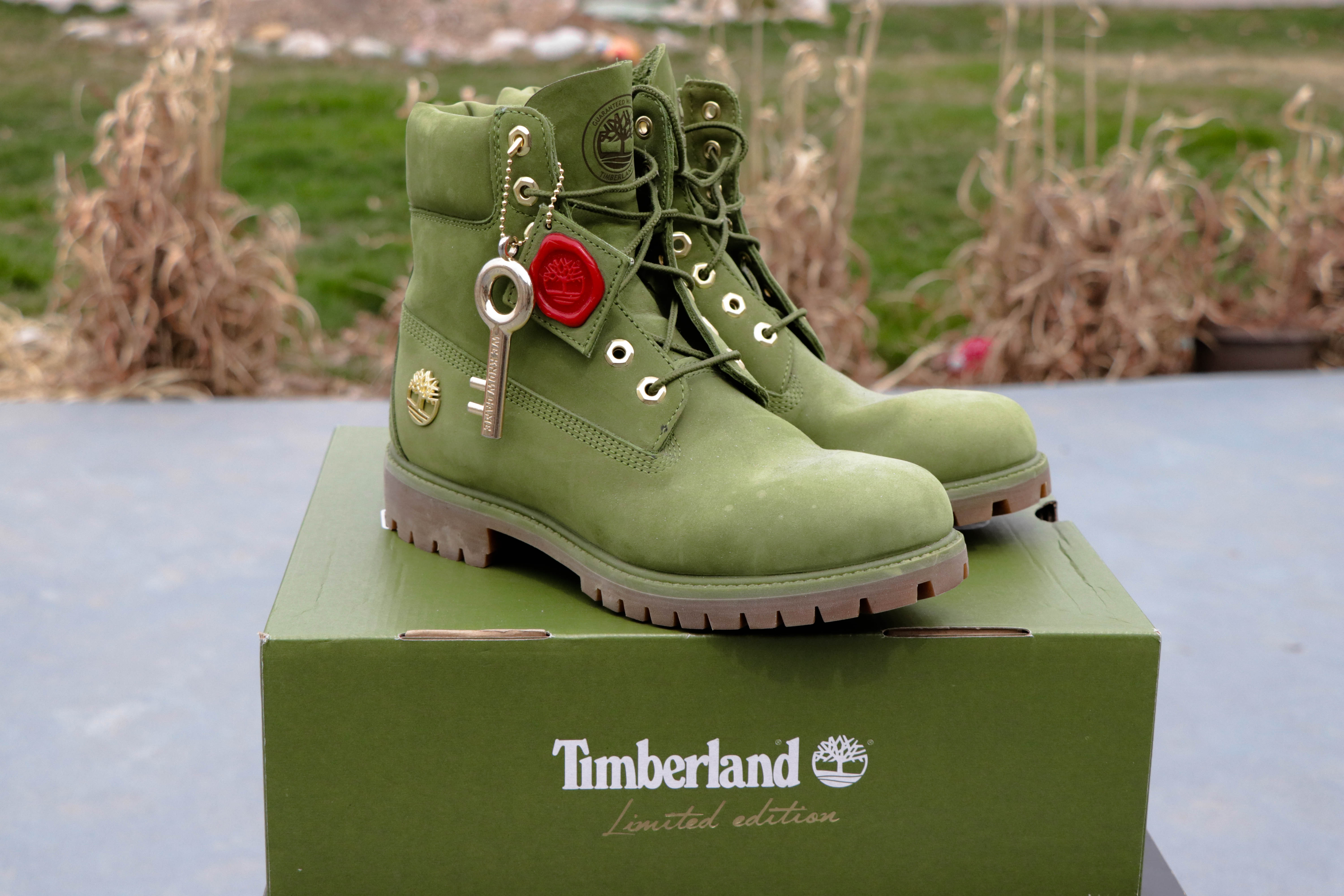 5534a1d33eb Timberland (LAST PRICE DROP 💥) Timberland 6 inch DJ Khaled Green Boots  Size 8 - Boots for Sale - Grailed