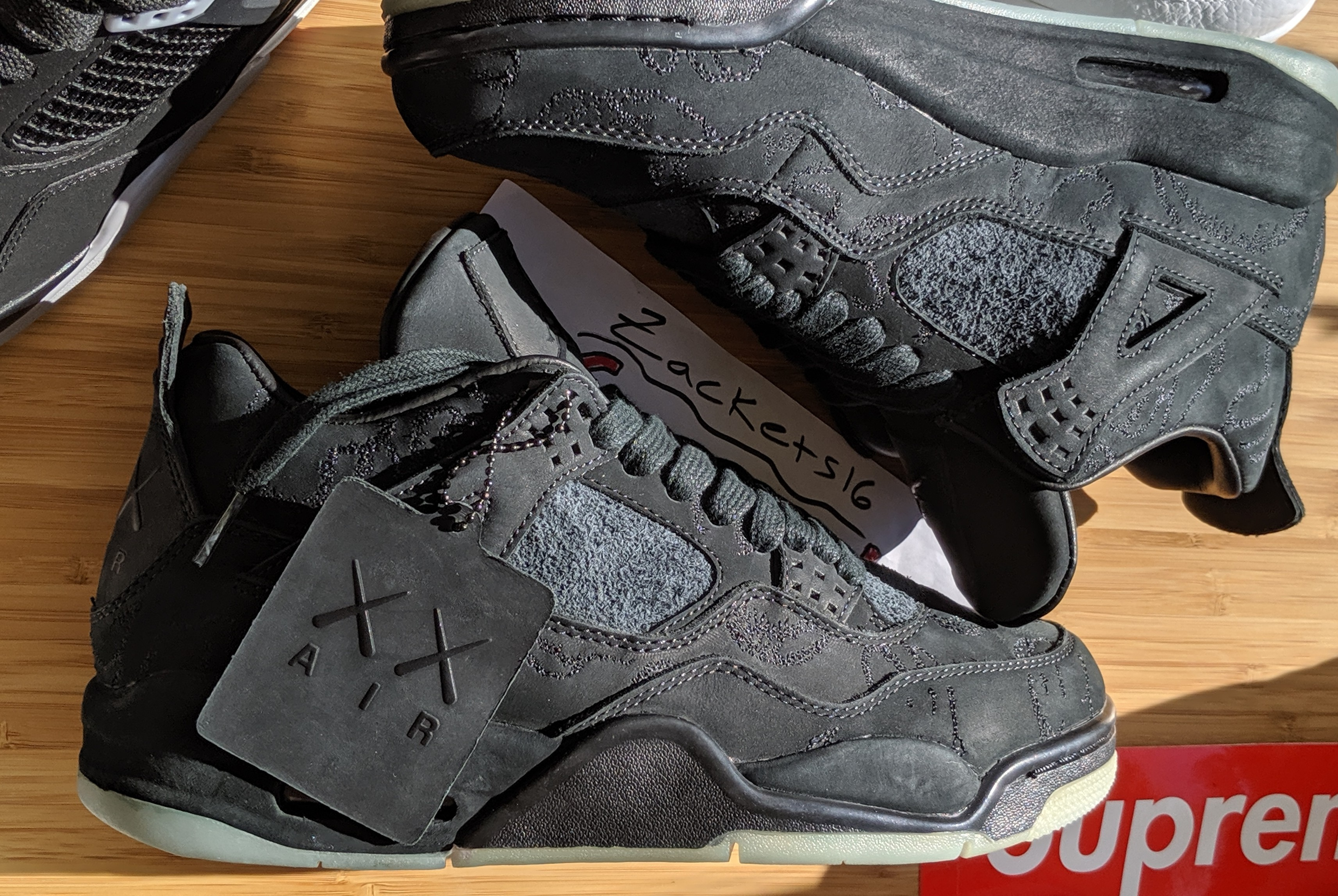 c988fc622a6 Jordan Brand Ds Kaws X Air Jordan 4 Black Sz. 9 Comes With Og ...