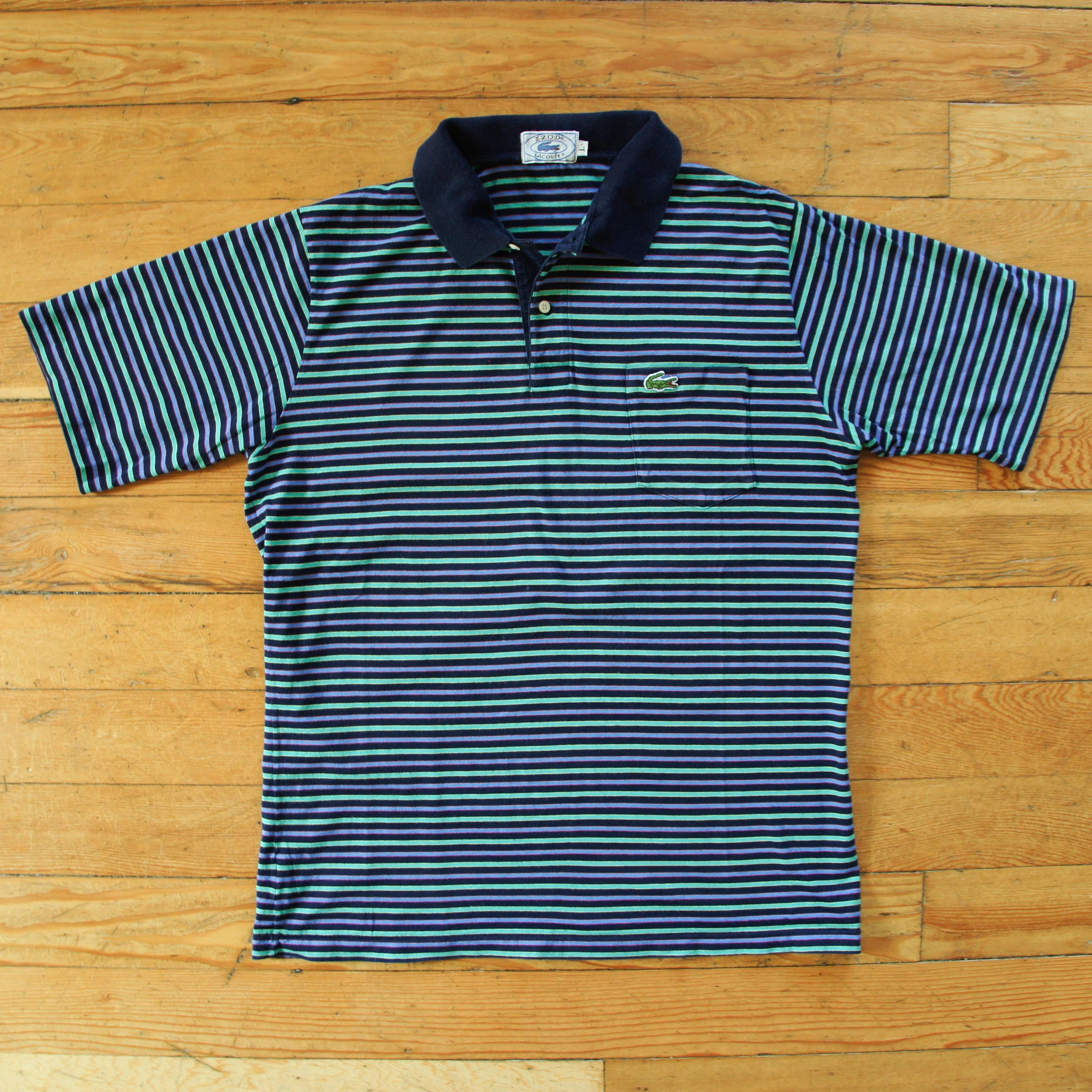 d7fc62ef Vintage Vintage Izod Lacoste Polo Short Sleeve Shirt - Green Blue ...