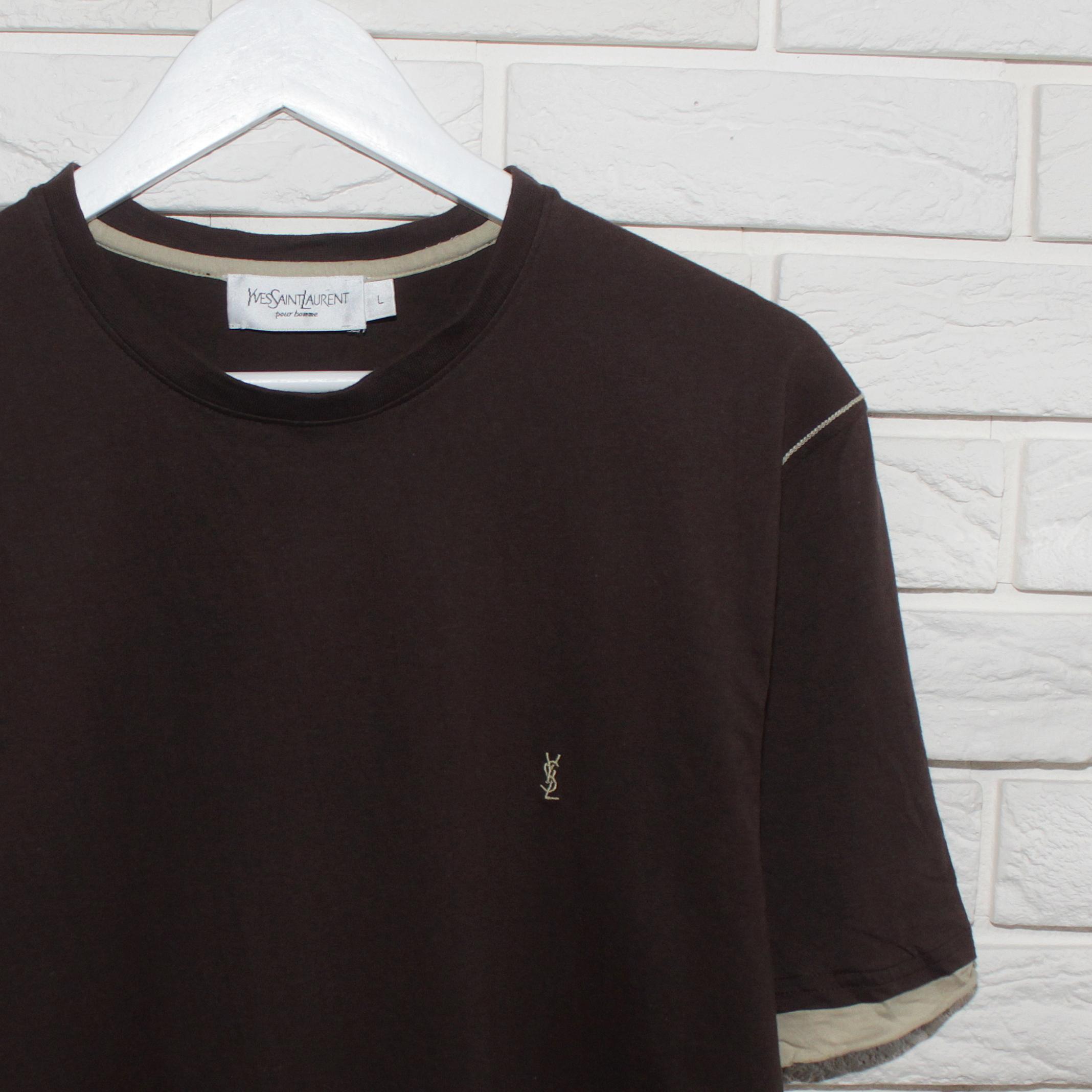 e572baa3cdf Saint Laurent Paris Vintage Ysl Yves Saint Laurent Mens Brown Short ...