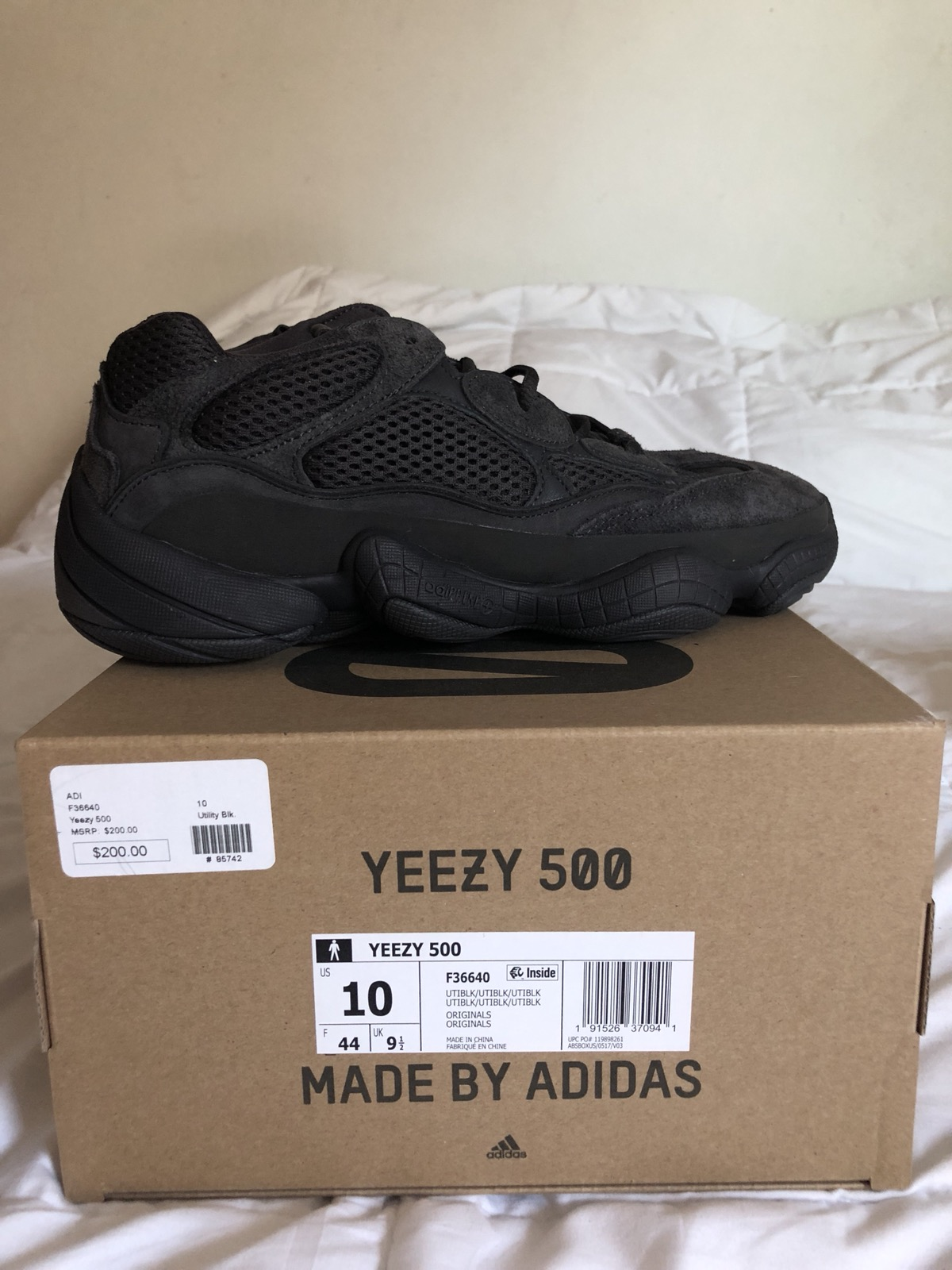 57669202e Adidas Kanye West Yeezy 500 Black Size 10 - Low-Top Sneakers for Sale -  Grailed