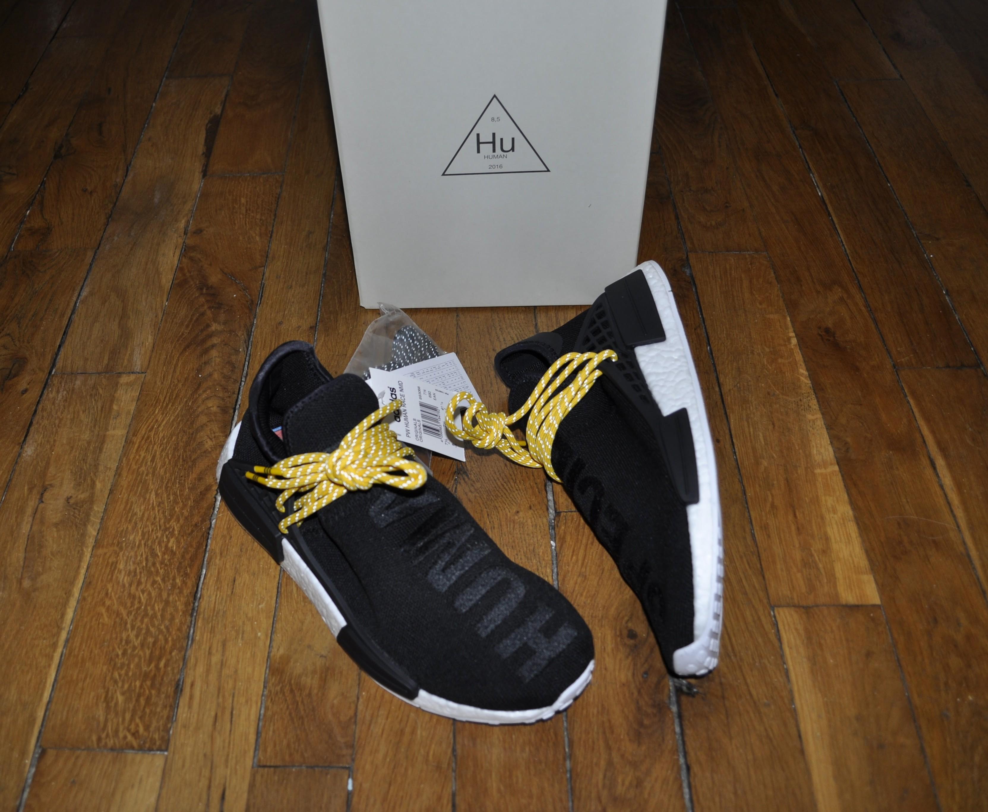 9038f8fff Adidas × Pharrell. Adidas Nmd Primeknit Pharell Williams Human Race Black Size  9 Us ...