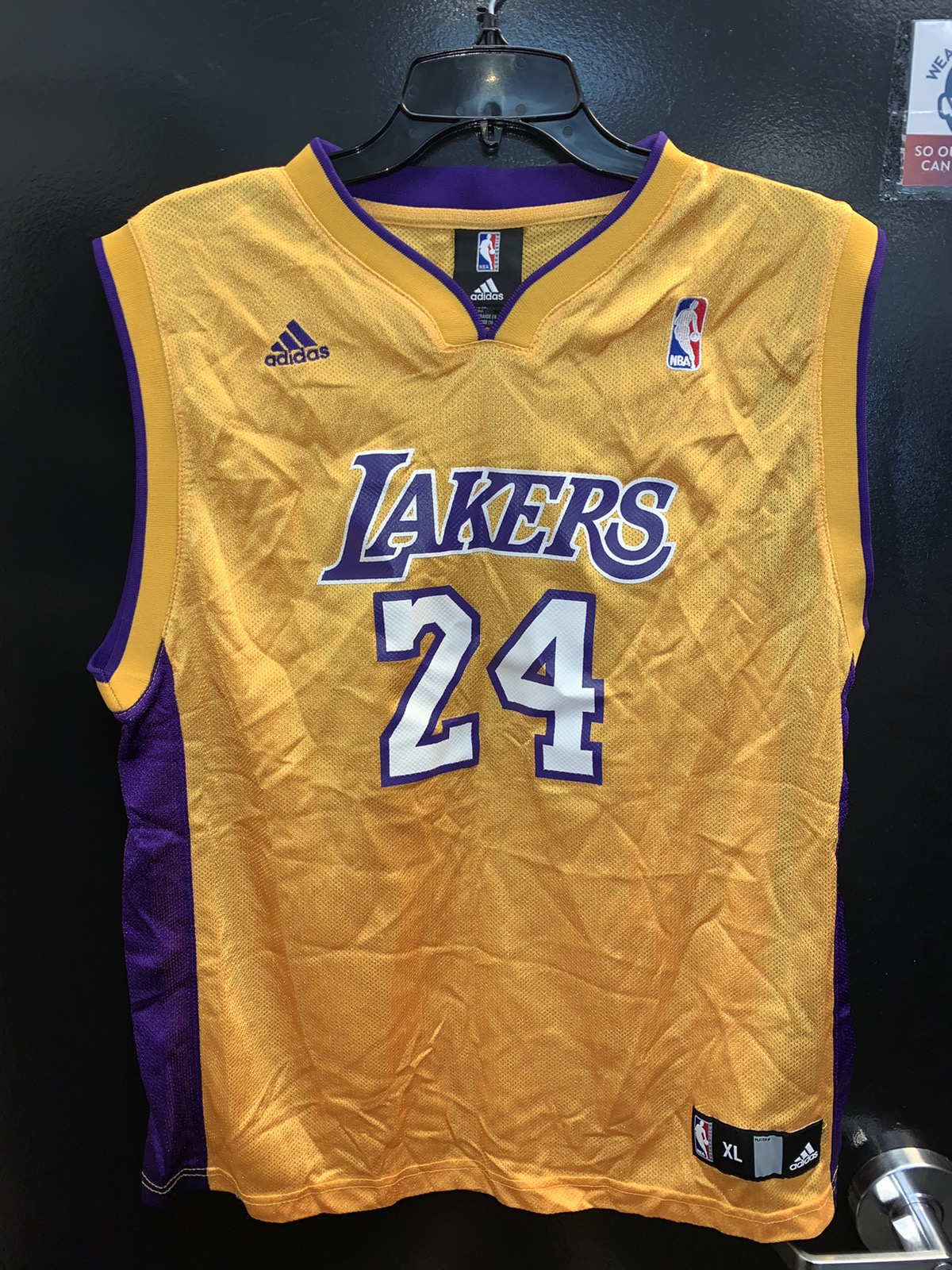 Adidas Adidas NBA Kobe Bryant 24 LA Lakers Kids Basketball Jersey