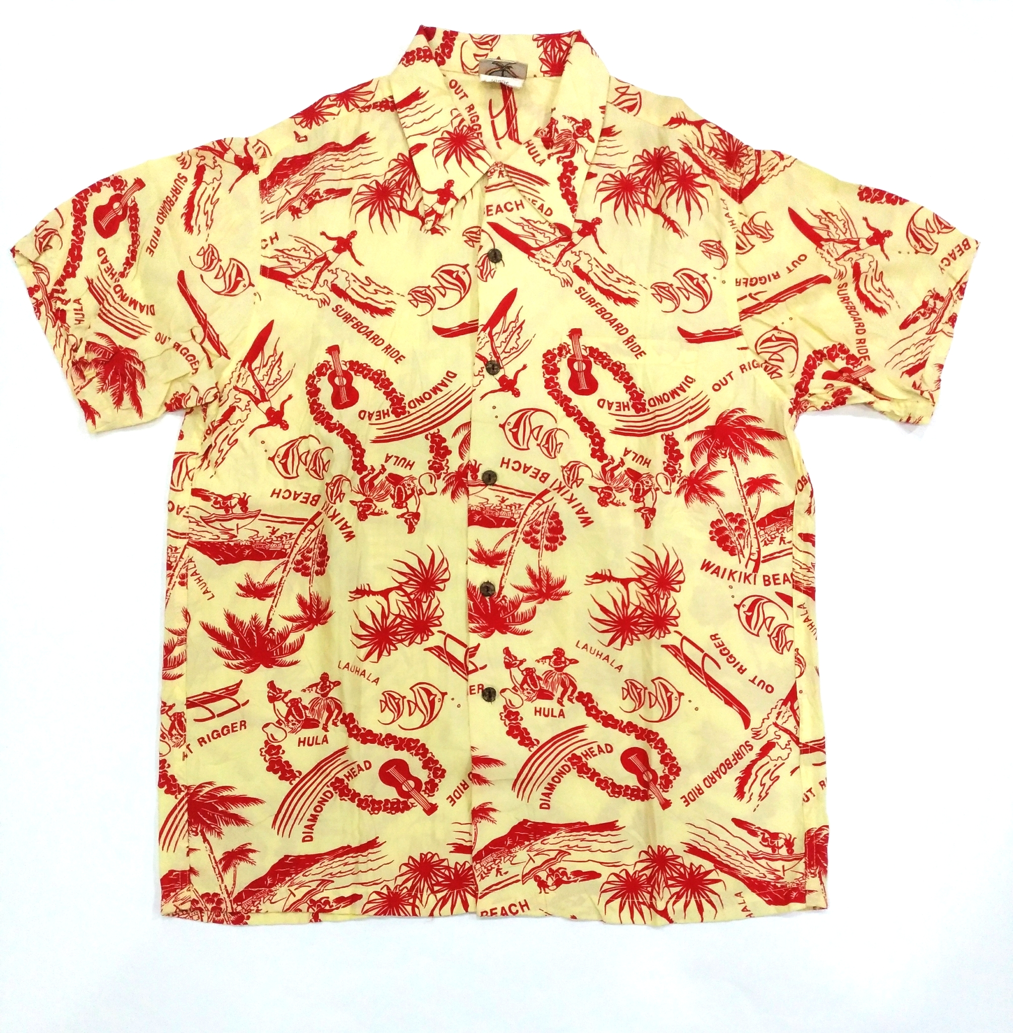 f9c23f8779 [LAST DROP] HAWAIIAN CLASSIC SURFING BEACH PALM VINTAGE ALOHA SHIRT