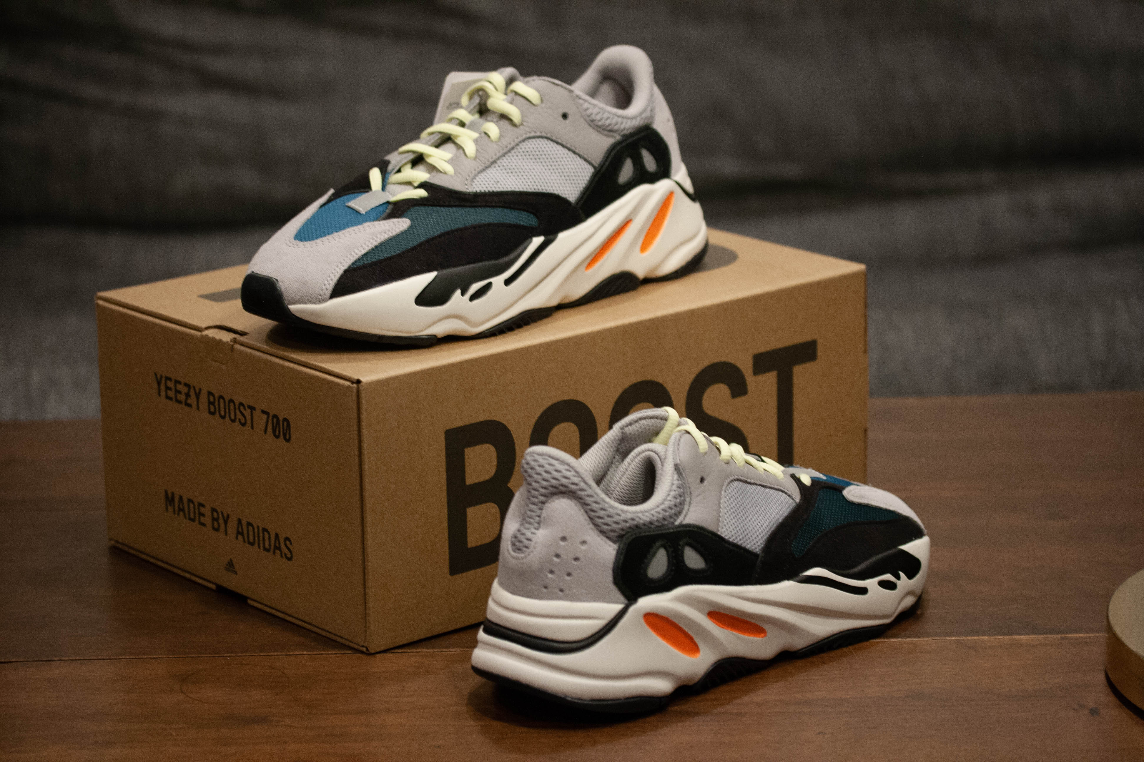 6257c0d2a Adidas × Adidas Kanye West × Yeezy Boost. Yeezy 700 Shoes Solid Grey   Core  White B75571