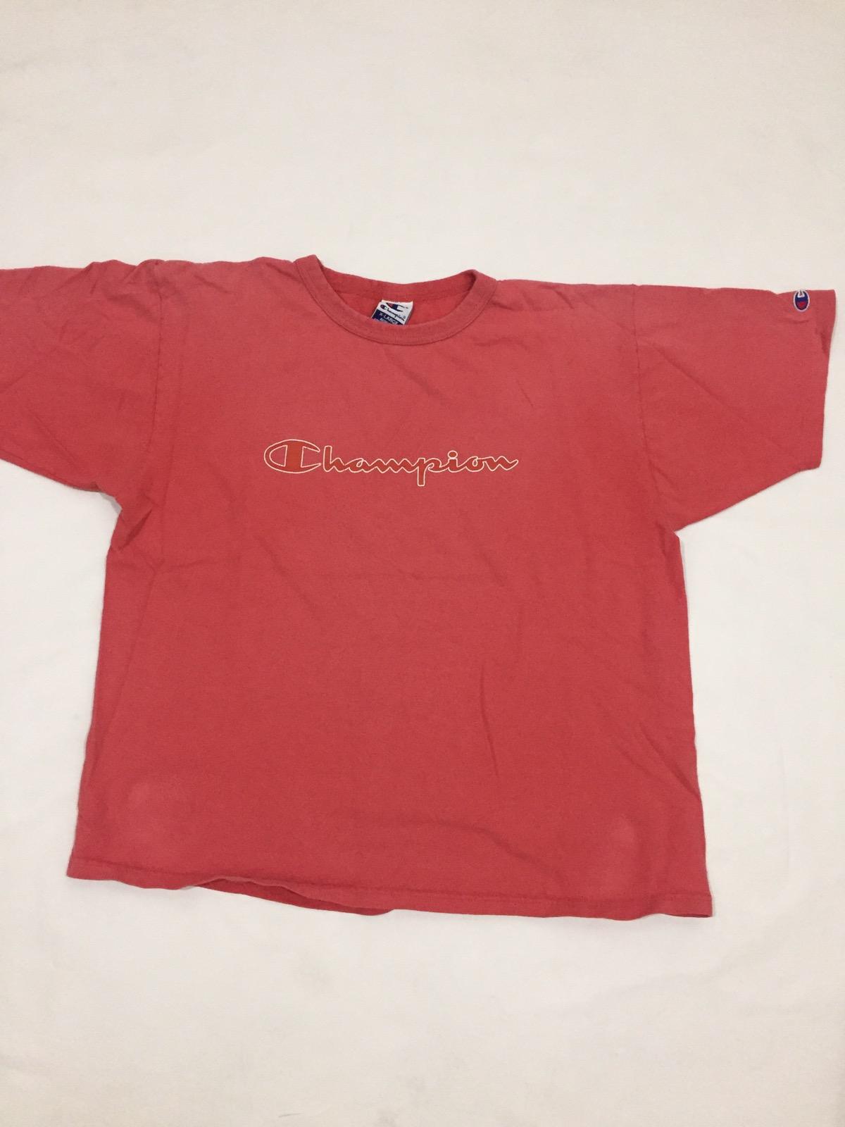 221ce30e Vintage × Champion × American Vintage ×. Vintage 90s champion script logo  tee. Size: US XL ...
