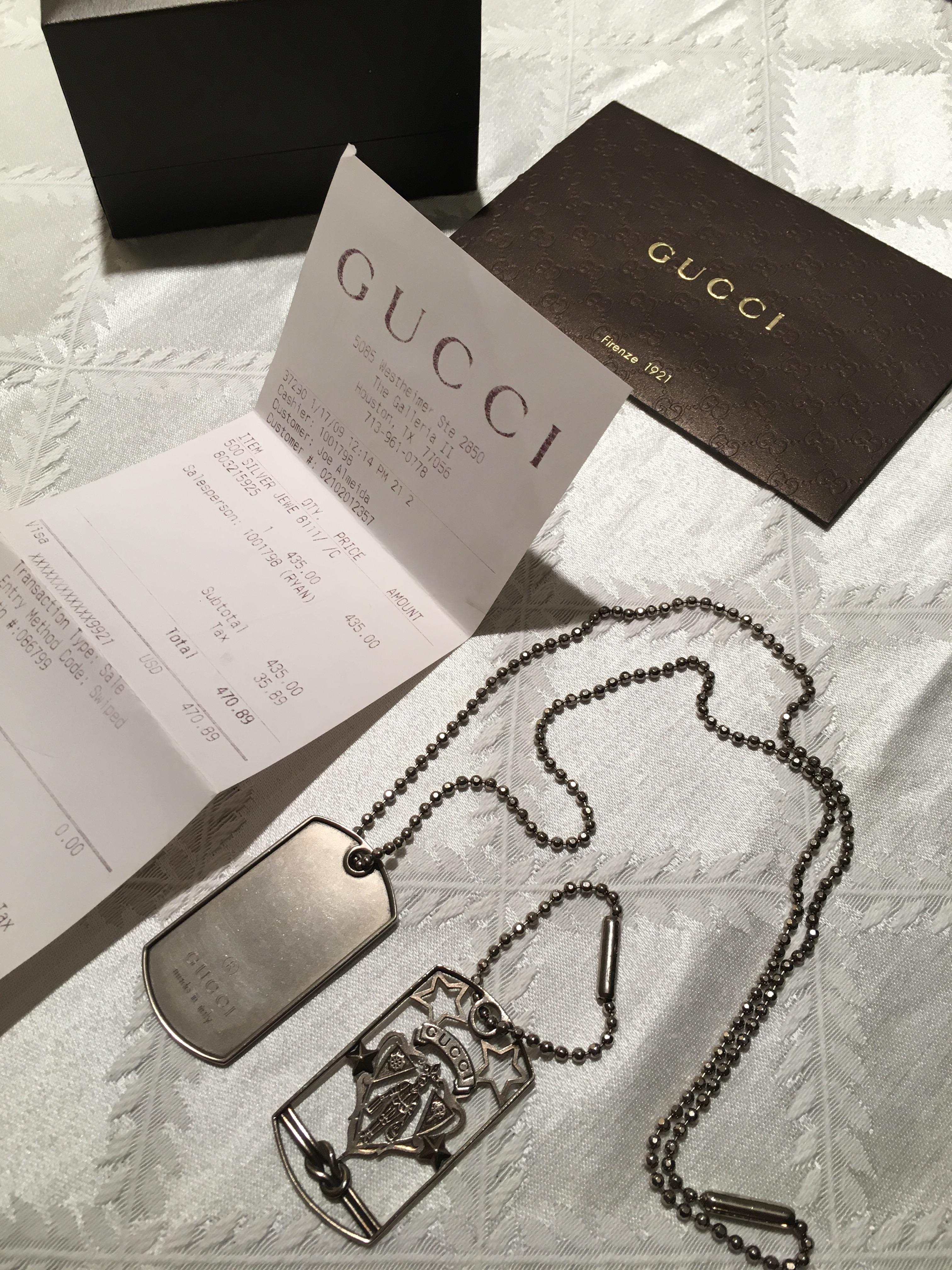 9f0d502dd Gucci Gucci Mens Dog Tag Necklace | Grailed