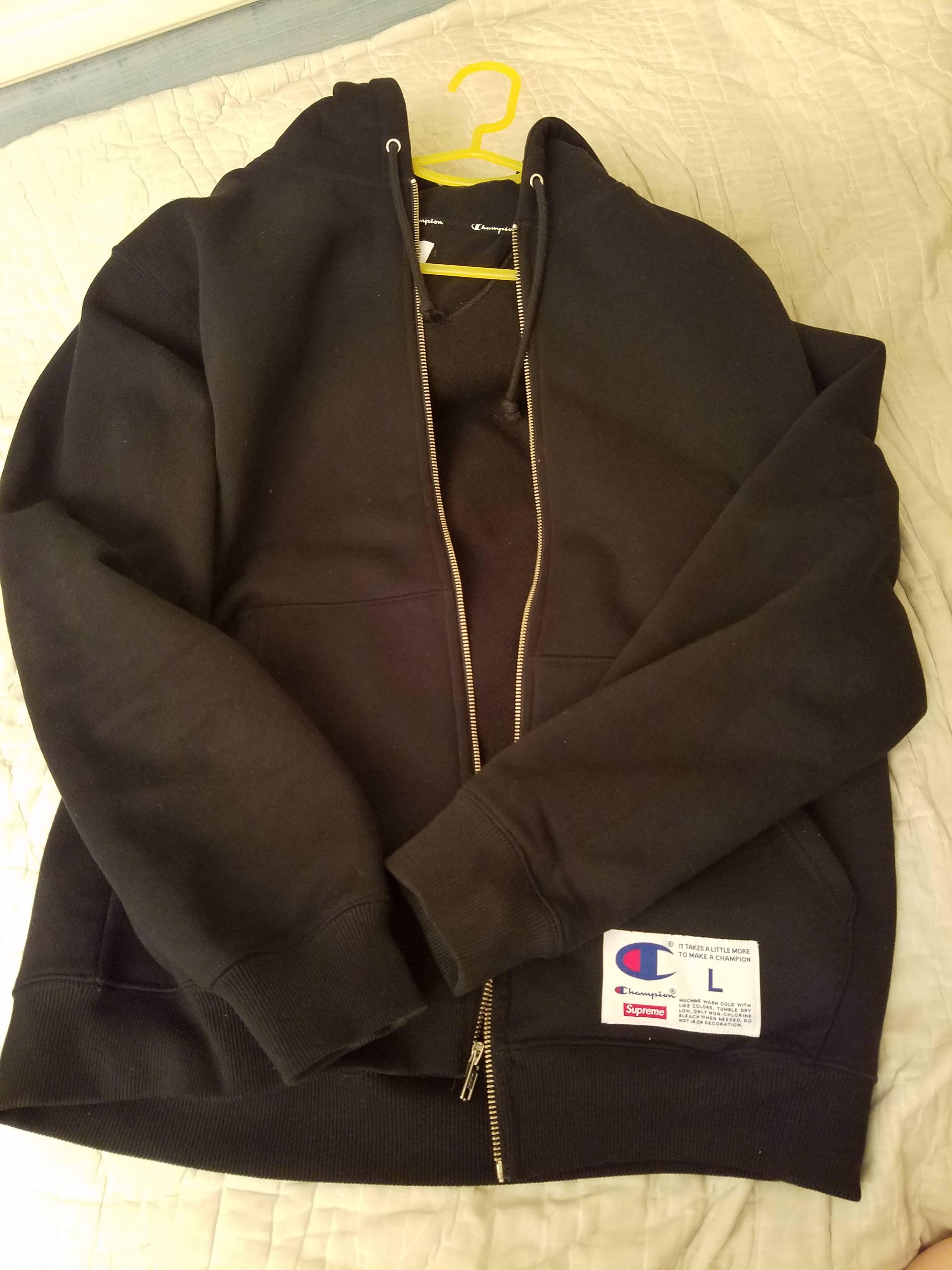 b6d8977a2467 Supreme × Champion ×. Supreme champion arc logo zip up sweat black