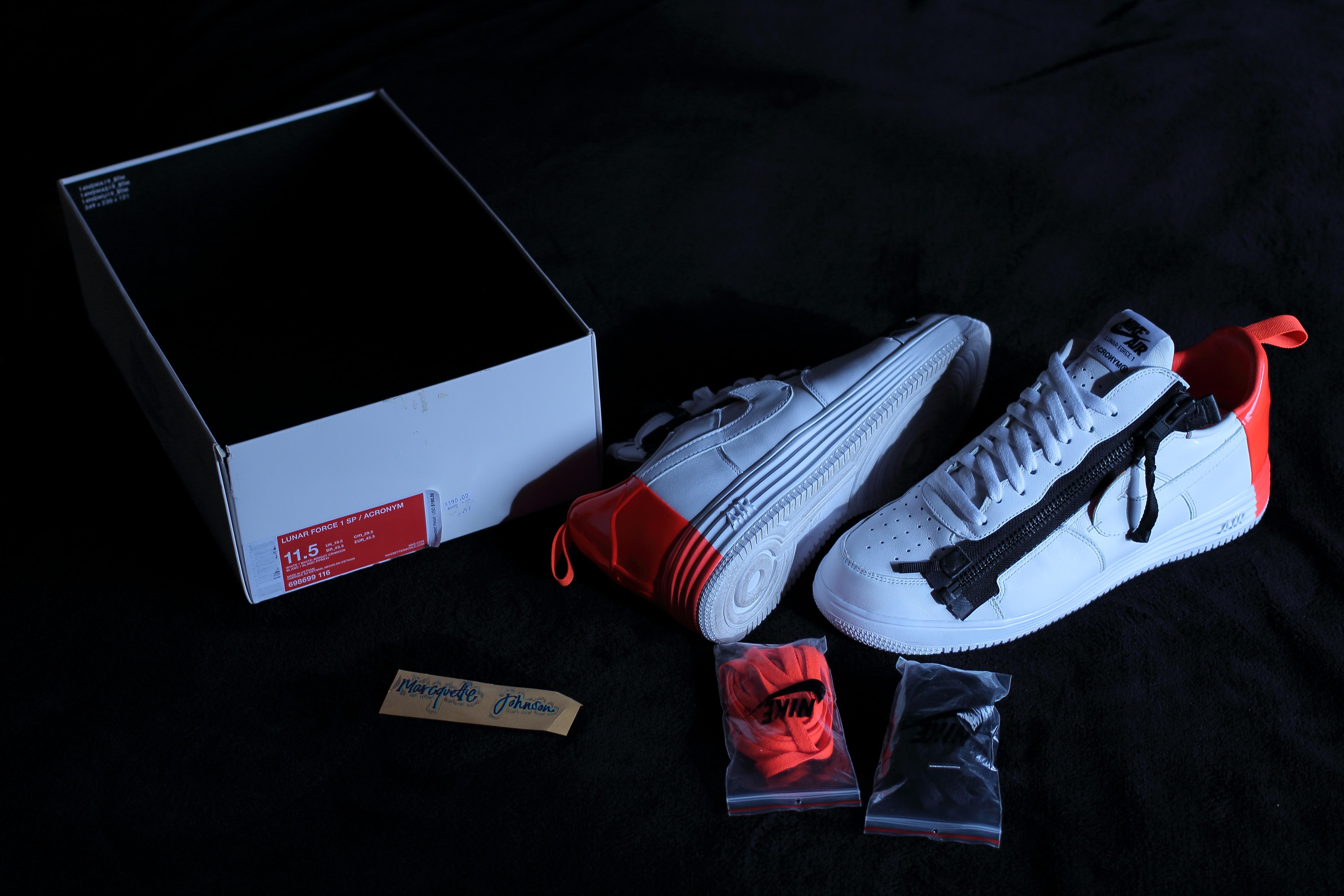 buy online dc9d4 7d979 Nike × Acronym. Nike Lunar Force 1 SP x Acronym White  Bright Crimson ...