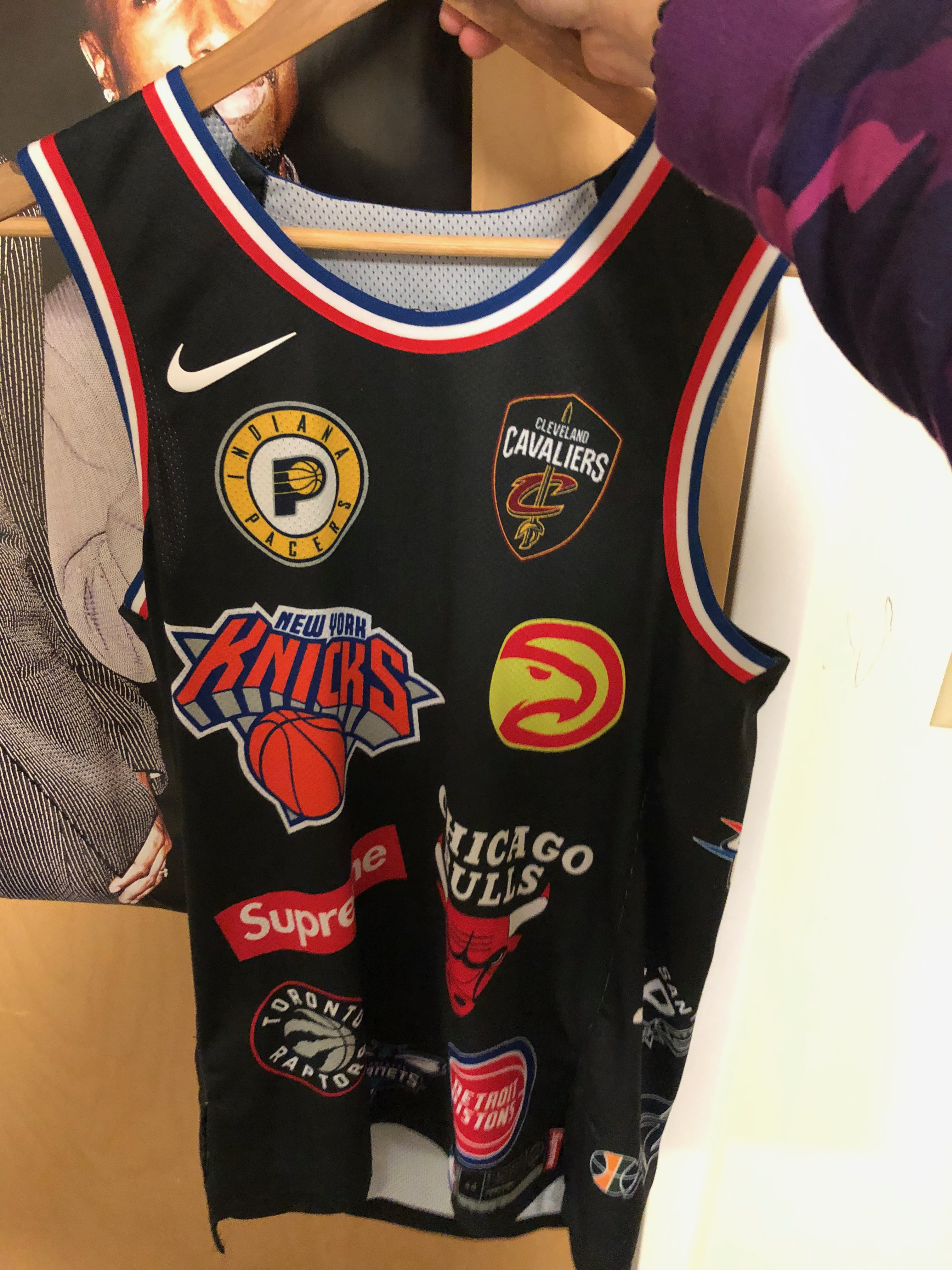 3e53cb3d Supreme × Nike × Nba ×. Supreme Nike/NBA Teams Authentic Jersey Black