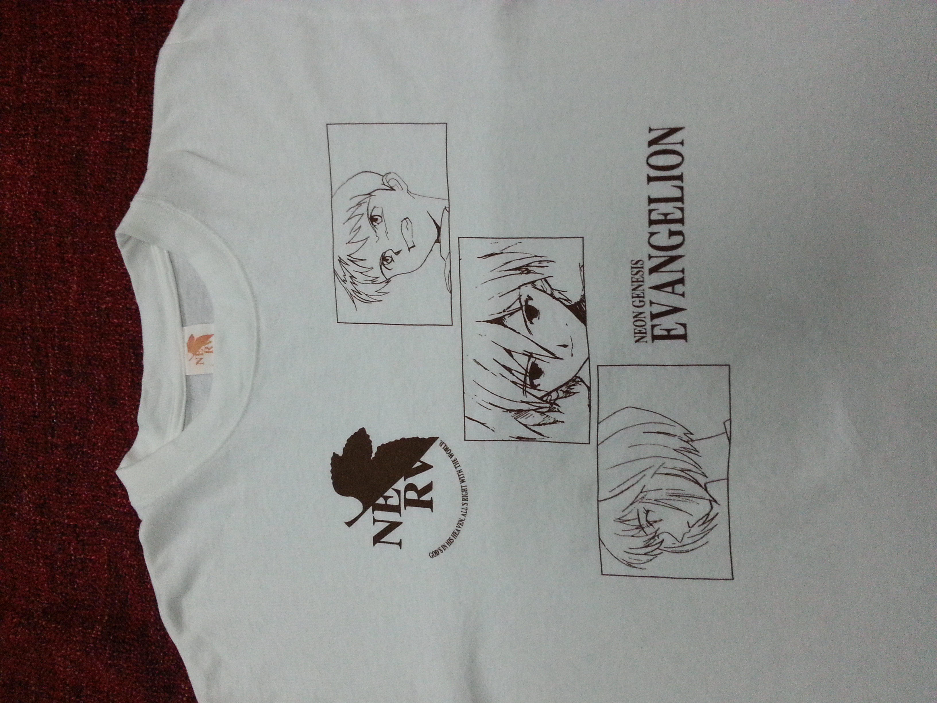 Vintage Neon Genesis Evangelion Japanese Cyber Punk Anime Tee  Akira  Devilman