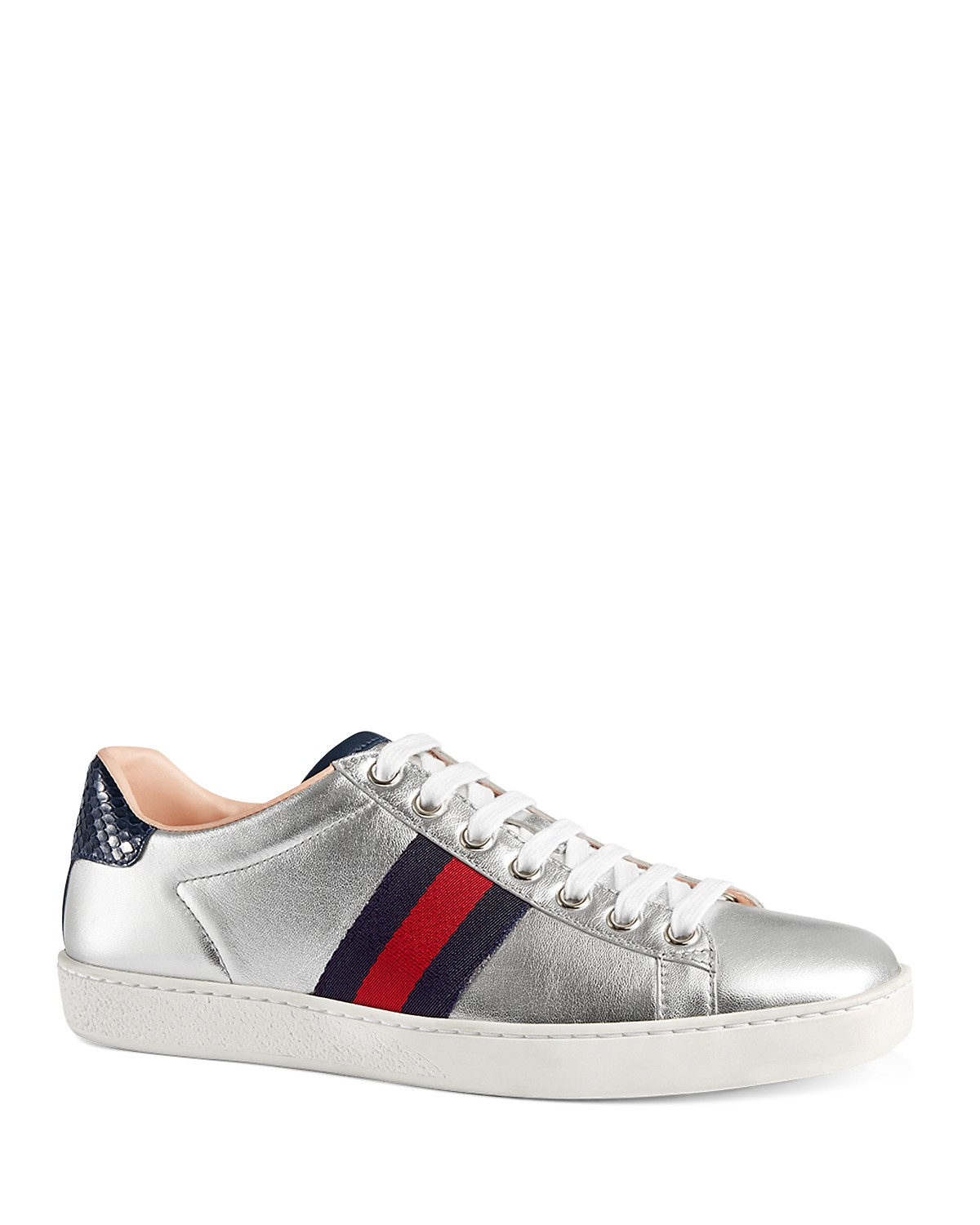 7212426eacd0 Gucci Silver Ace Sneaker Size 7 - Low-Top Sneakers for Sale - Grailed