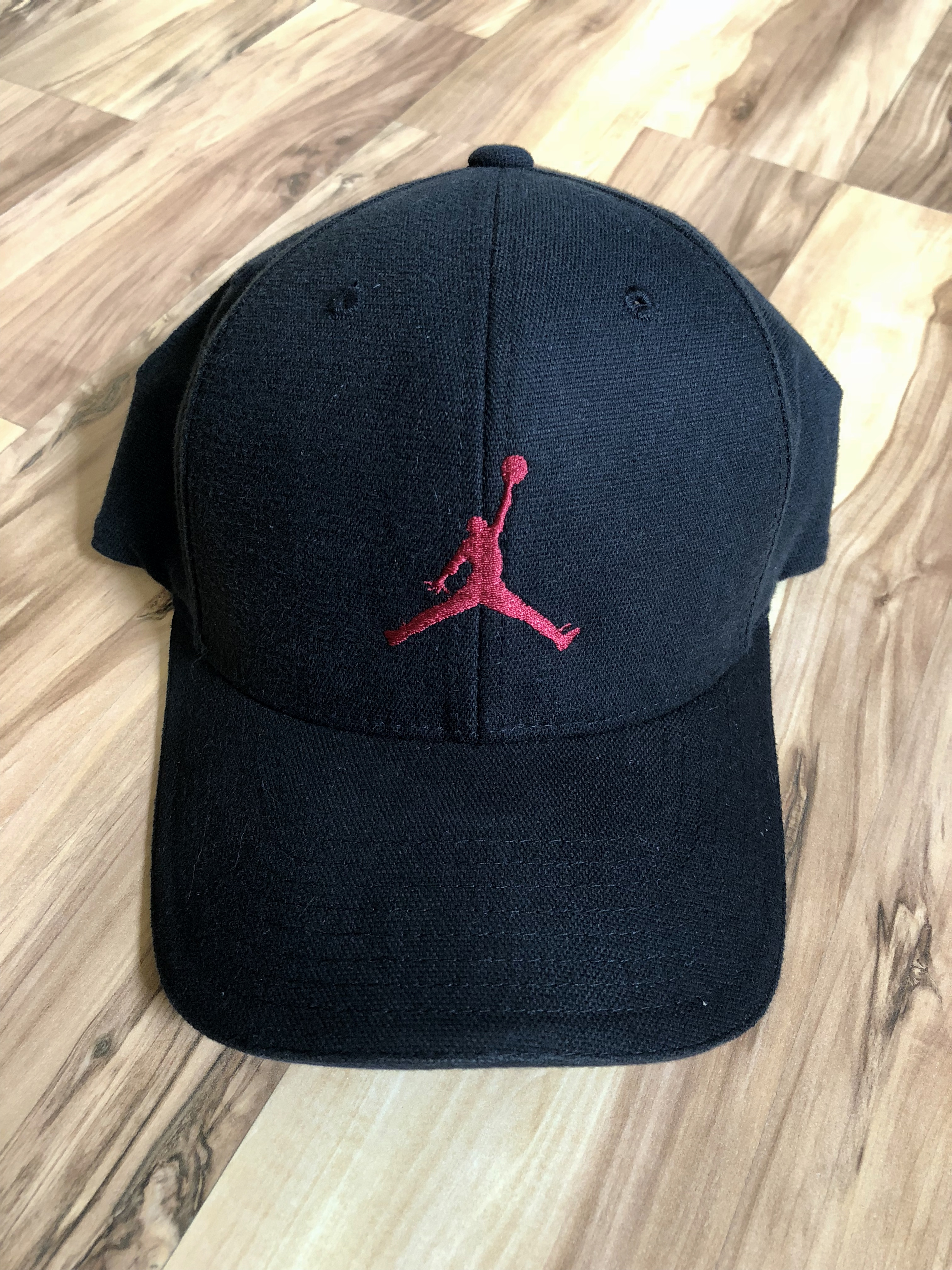 Nike 2000s Jordan Fits Like A Glove Jumpman Logo 6 Panel Curve Bill ... 7fe3590f6e6
