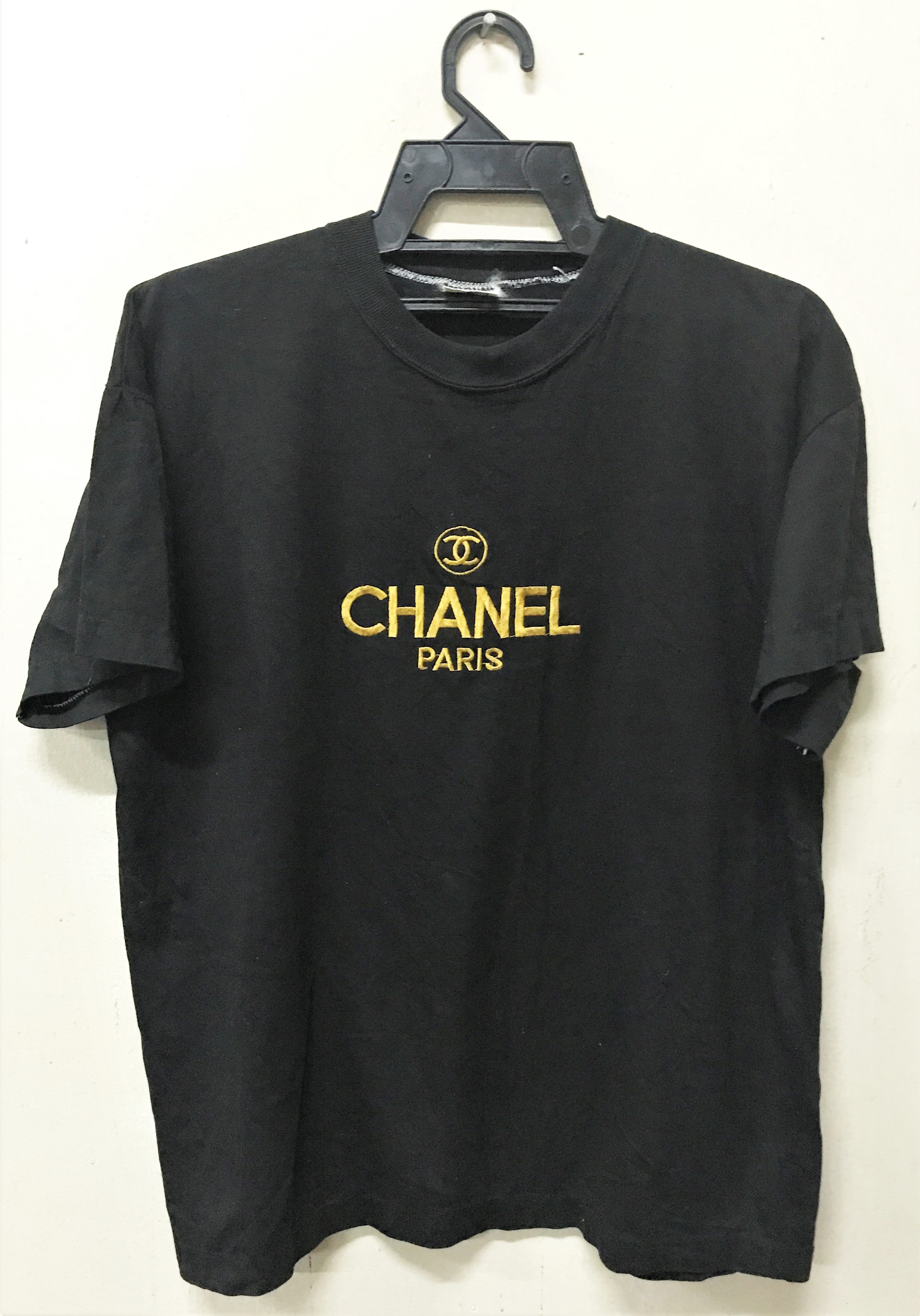 2fb748ee Chanel Vintage Chanel Boutique Embroidery Logo T-shirt | Grailed