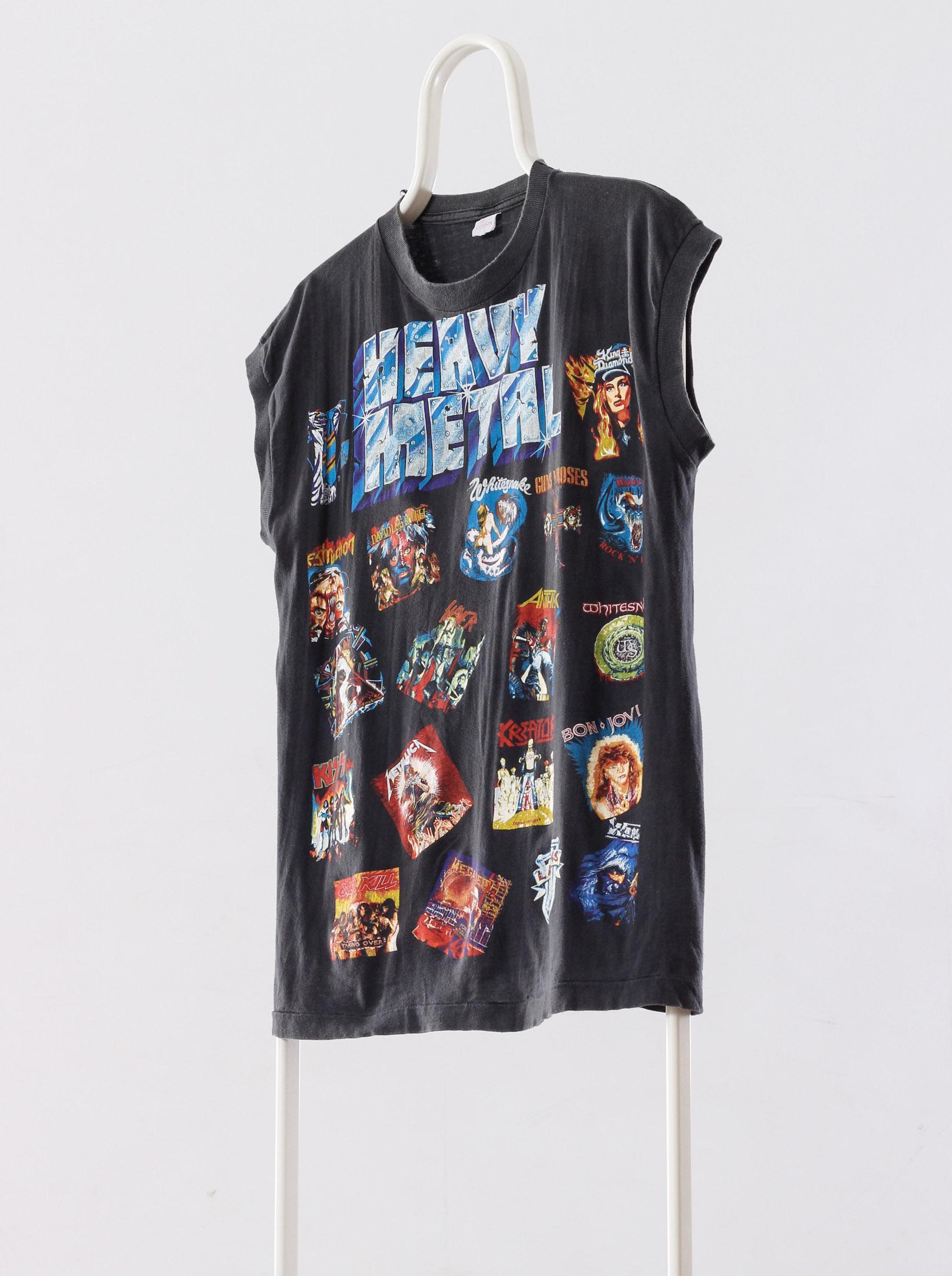 5dc9cc0353fd53 Vintage × Band Tees ×. A1190TSM - 90 s Vintage Mens HEAVY METAL Sleeveles Graphic  Tank Top T-Shirt Size ...