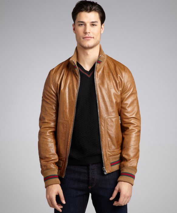 Gucci RARE! Gucci  3300 Leather Bomber Jacket Size 48 Size m - Leather  Jackets for Sale - Grailed 824bb2d78ec5
