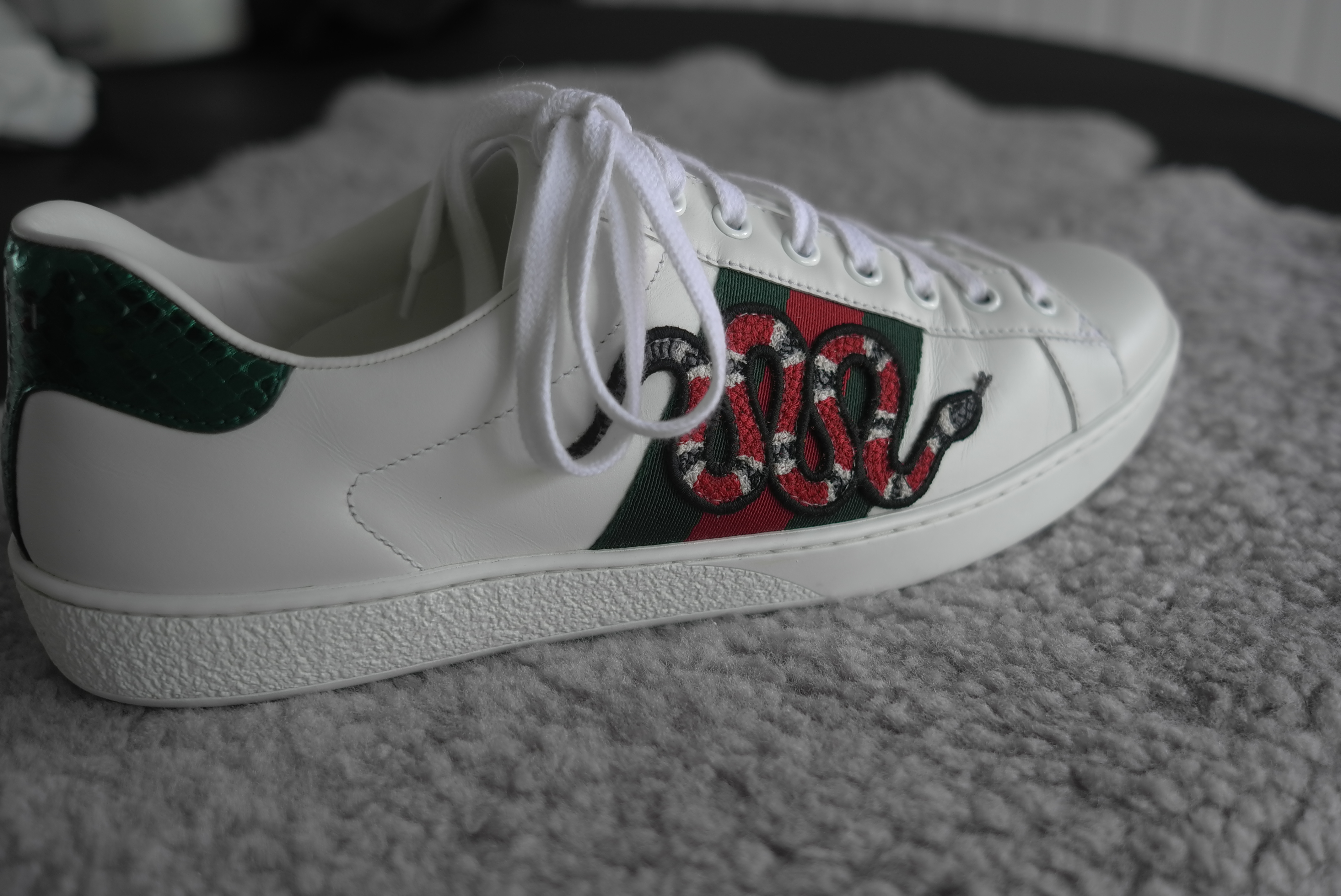 2a1ee4d948f Gucci Ace Snake Size 8 - Low-Top Sneakers for Sale - Grailed