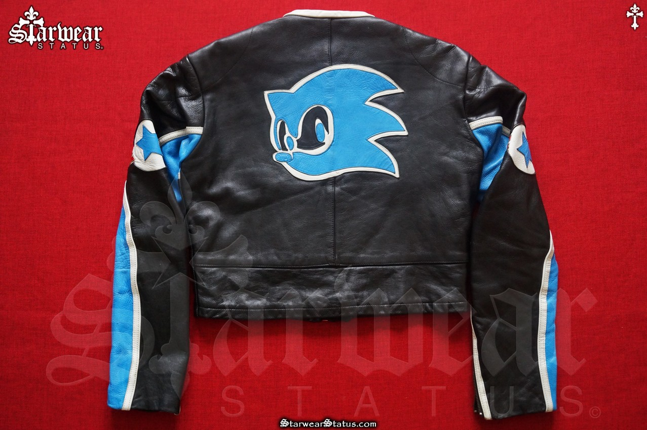 Japanese Brand Last Drop Sonic The Hedgehog Sega Game Leather Biker Jacket Grailed